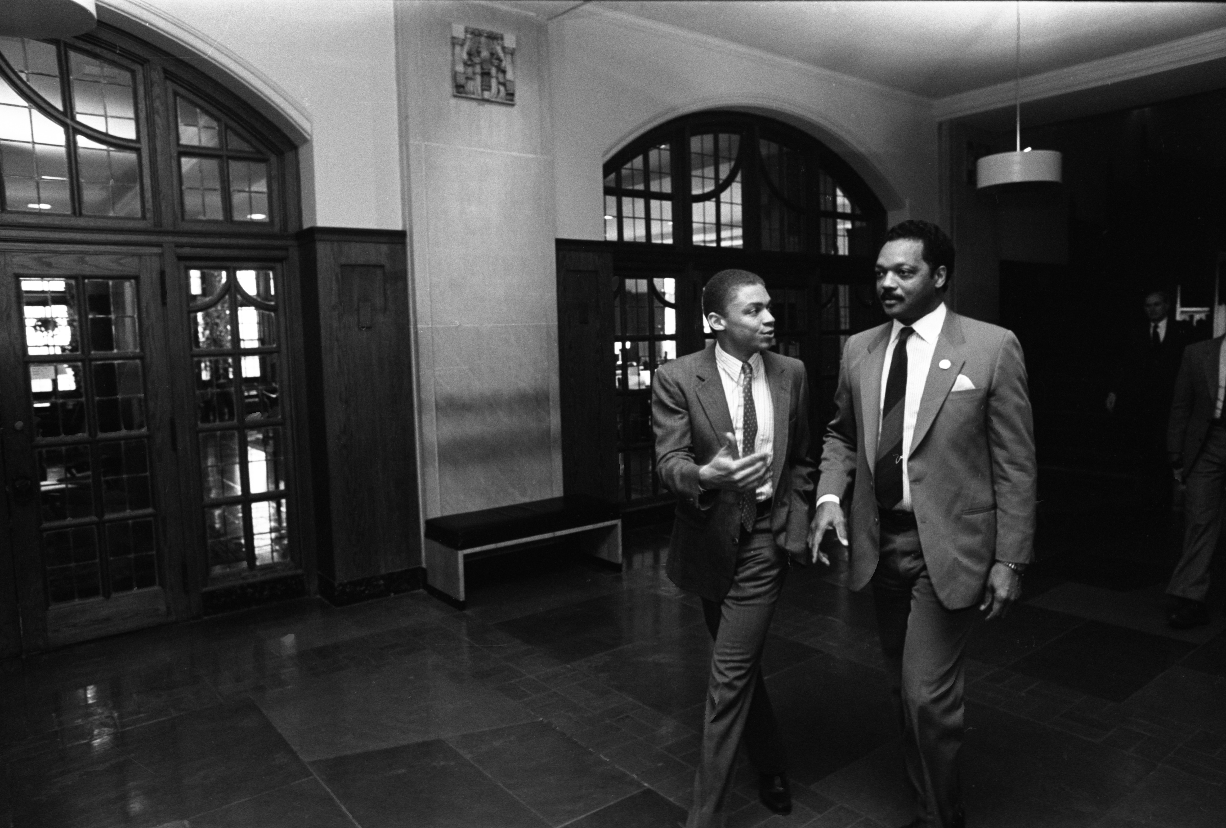 Black Action Movement leader, Charles Wynder With The Rev. Jesse Jackson, March 23, 1987 image