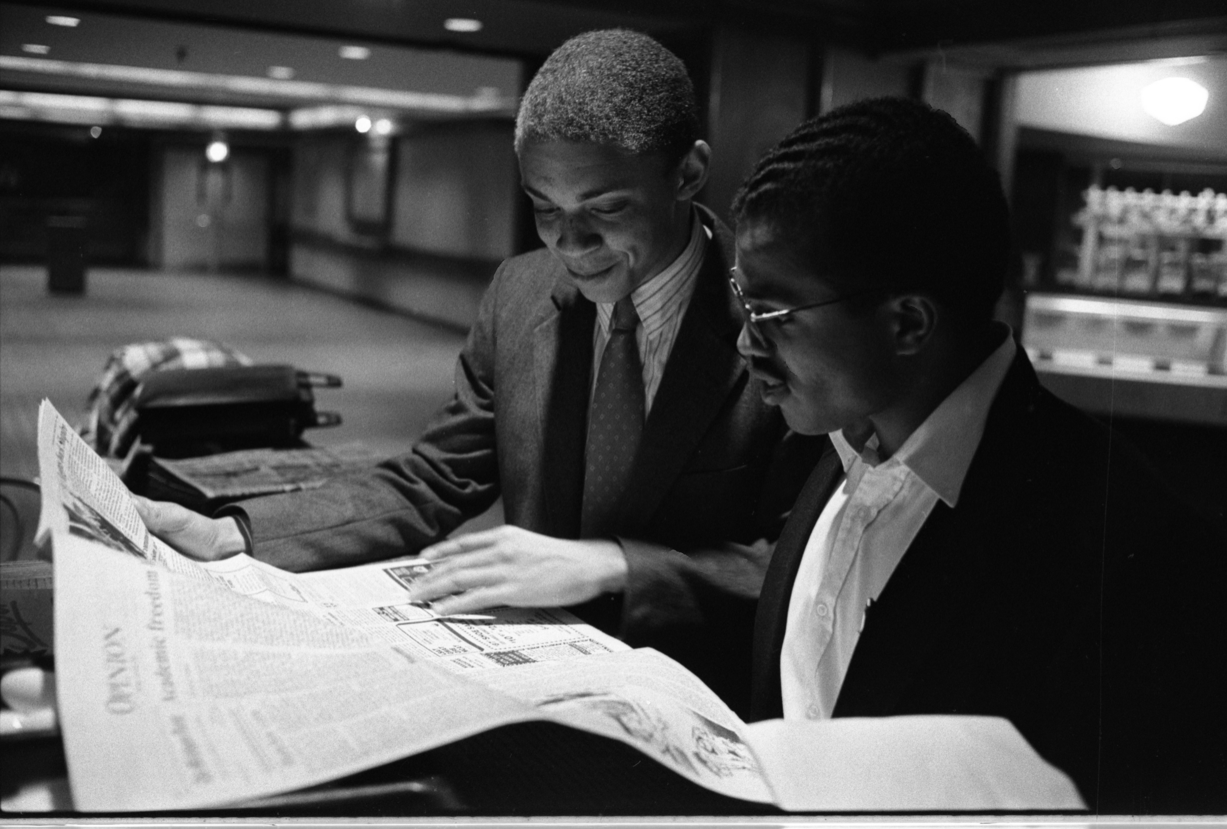 Black Action Movement Leaders, Charles Wynder & Barron Wallace, September 10, 1987 image