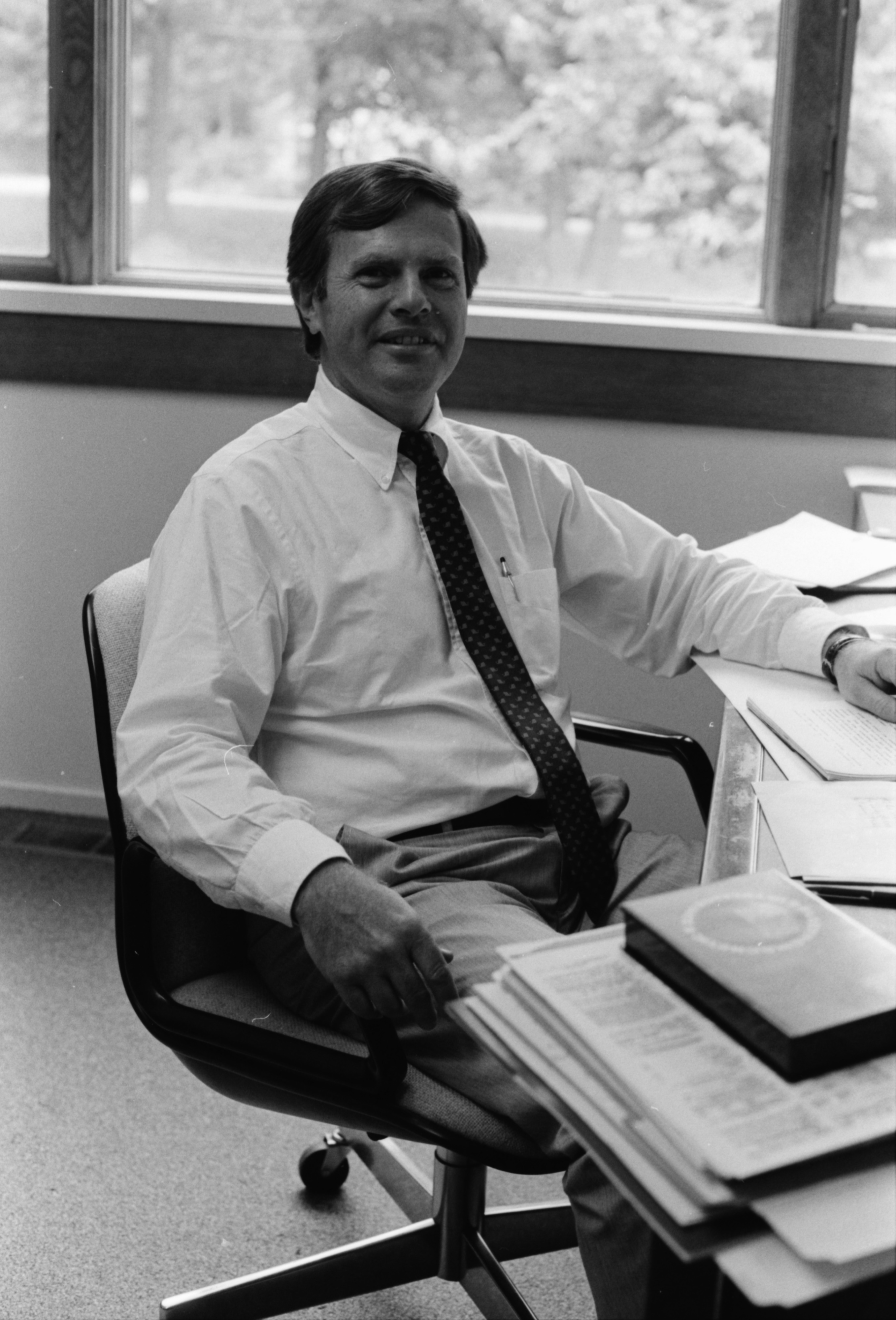 Portrait of Ian Bund, Director of MBW Management, August 1987 image