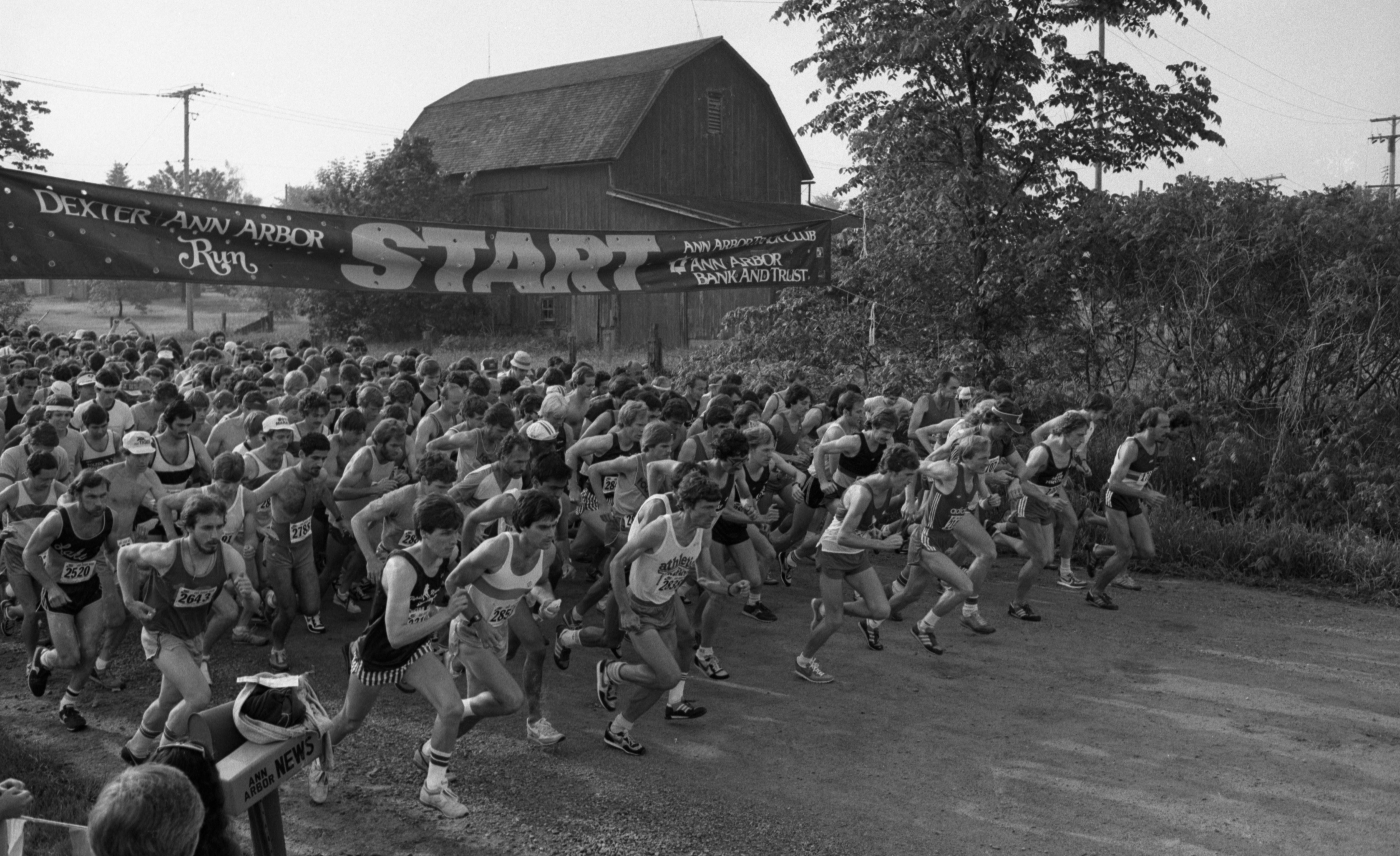 At The Starting Line Of The Dexter-Ann Arbor Run, May 29, 1982 image