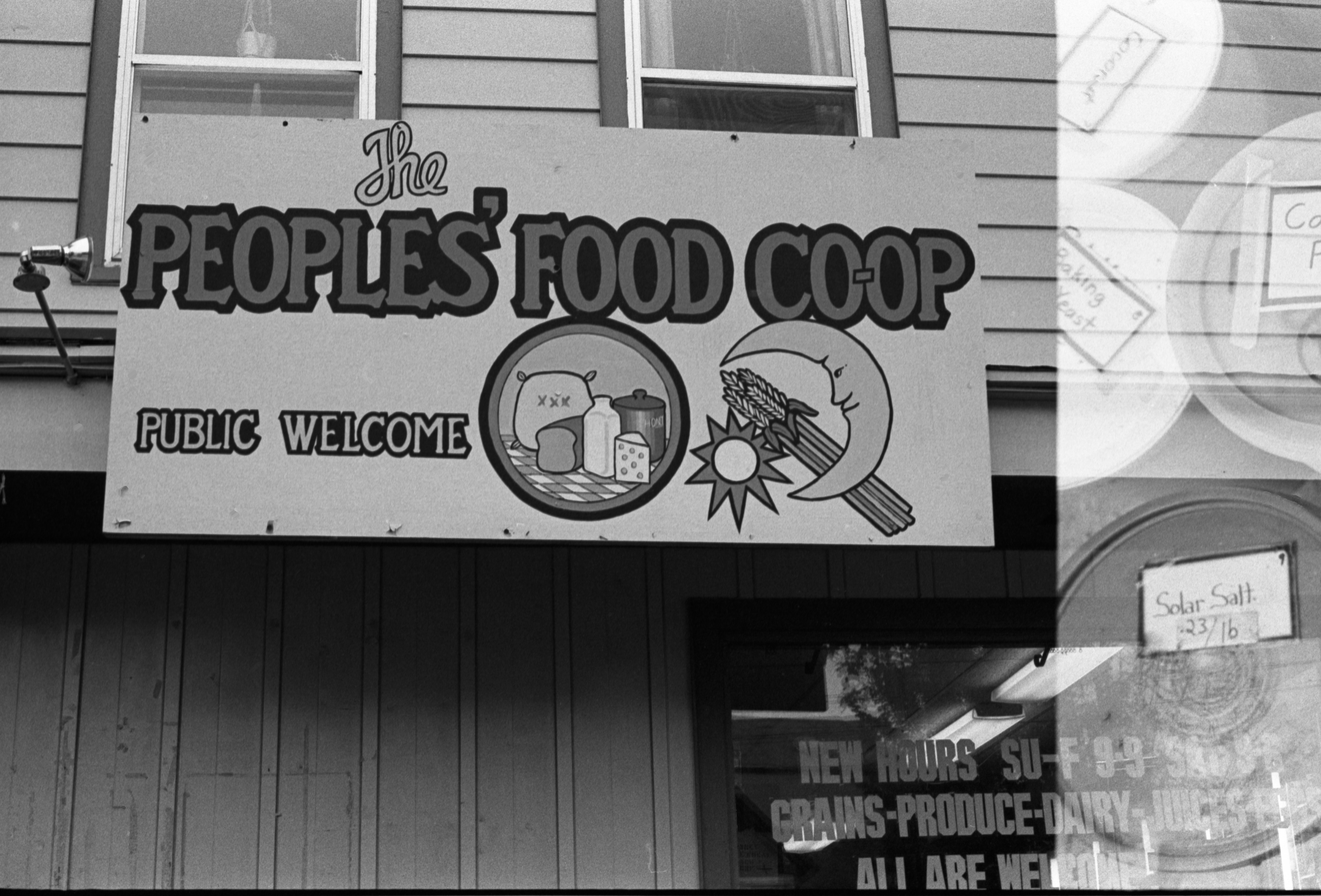 The People's Food Co-Op Exterior Building Sign, October 14, 1982 image