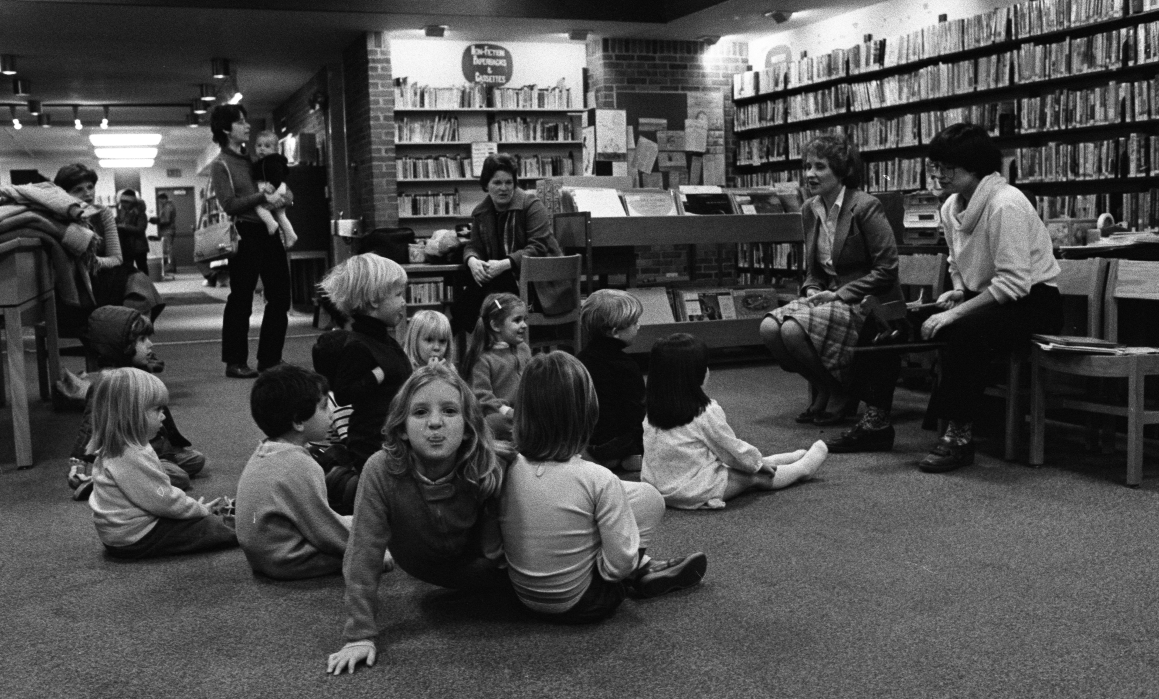 Everyone's A Critic at Story Time at the Loving Branch Library, December 1982 image
