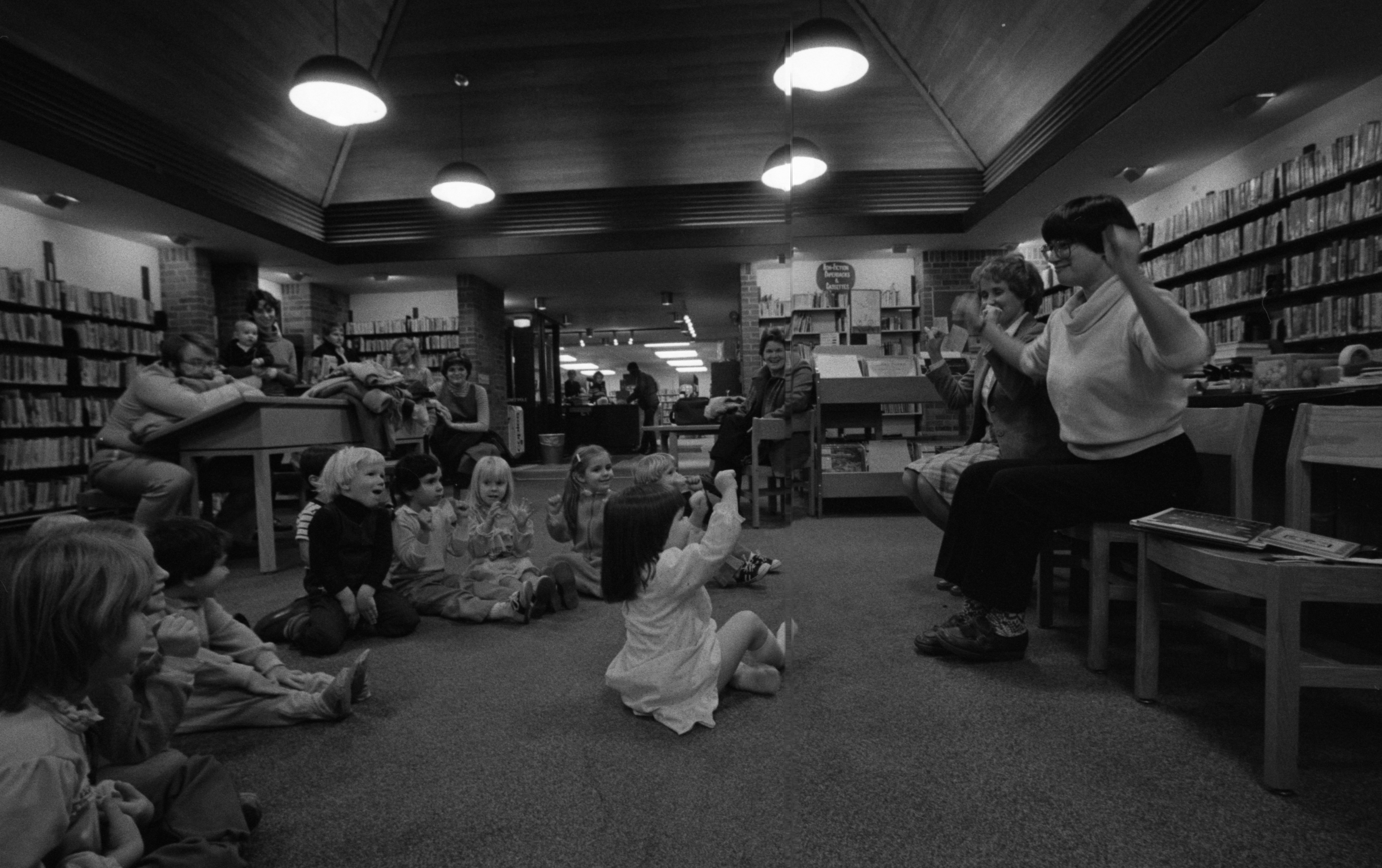 Fun & Games at Story Time at the Loving Branch Library, December 1982 image