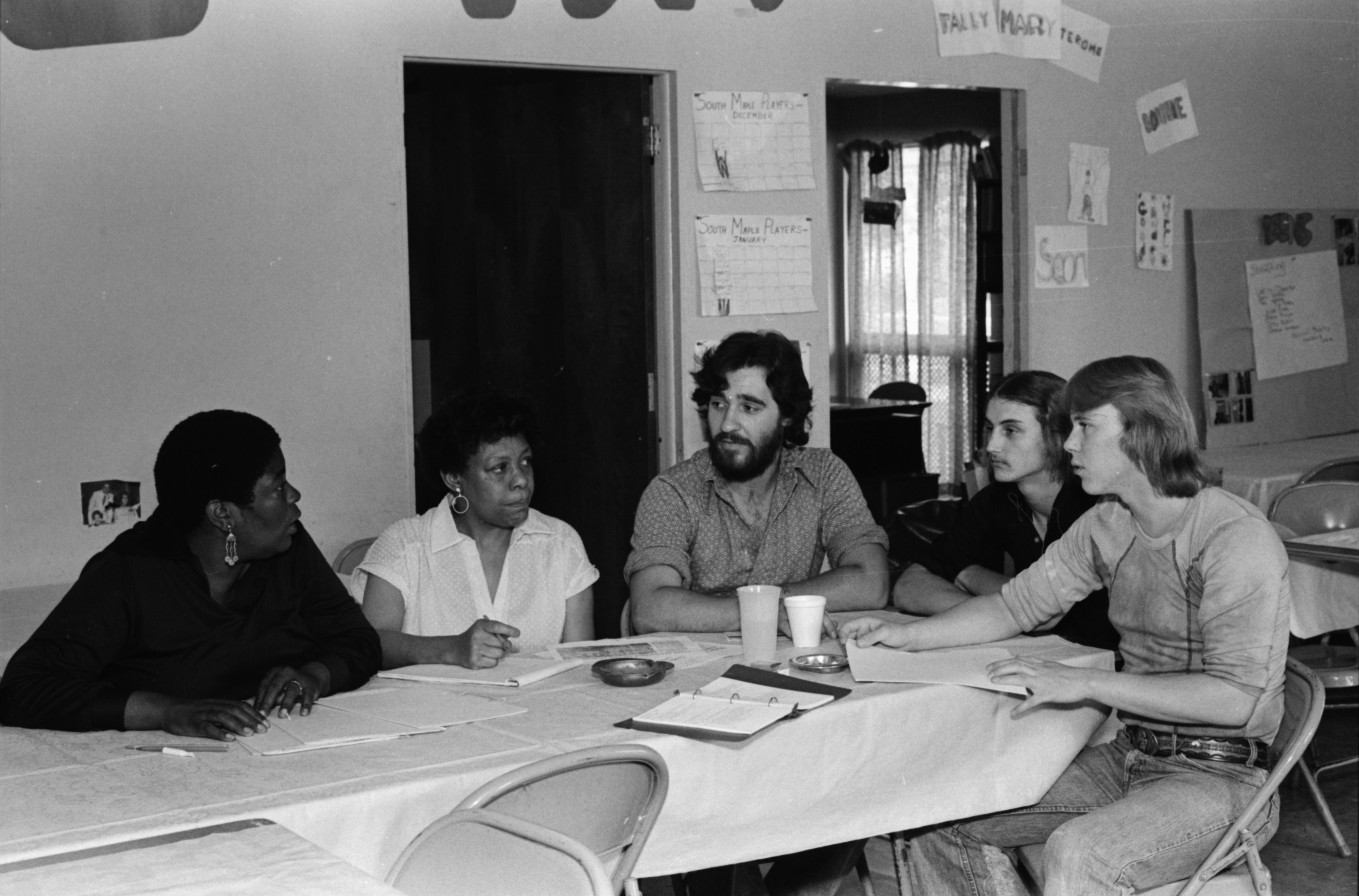 Rose Martin Leads Conversation At Peace Neighborhood Center, June 1979 image
