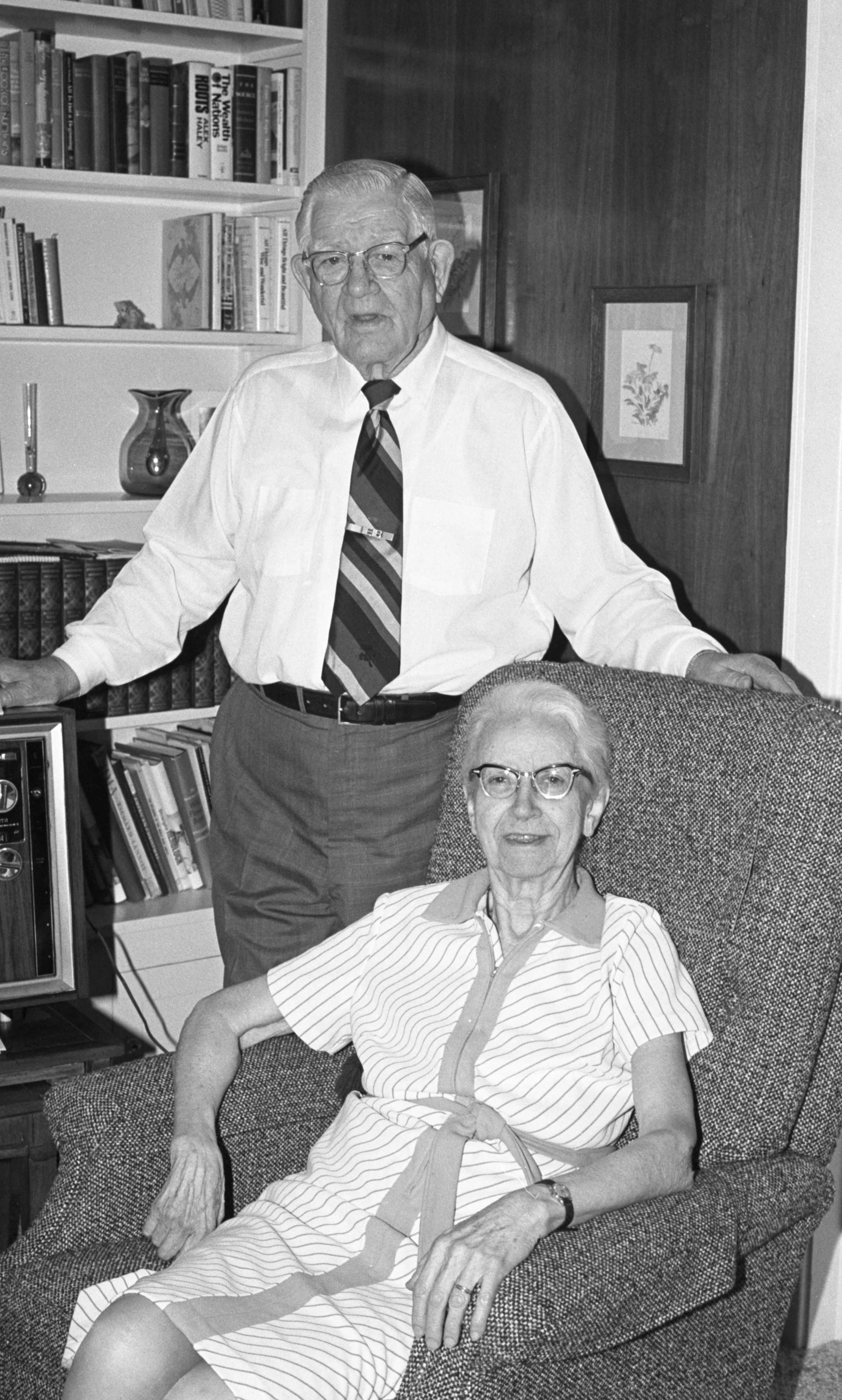 Earnest Boyce, Retired Civil Engineer, & His Wife Elsie, June 1979 image