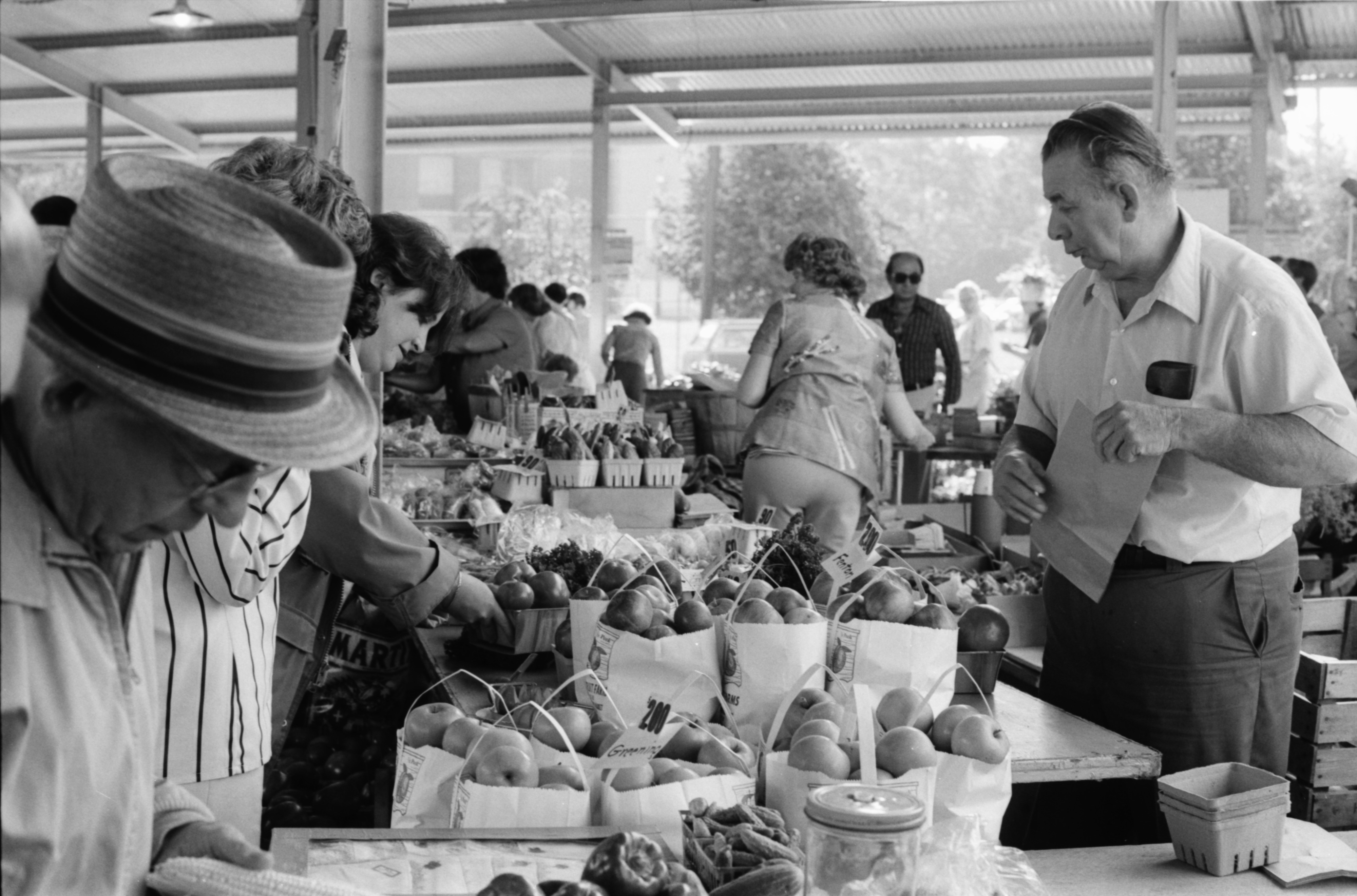 Saturday At The Ann Arbor Farmers Market, August 1979 image