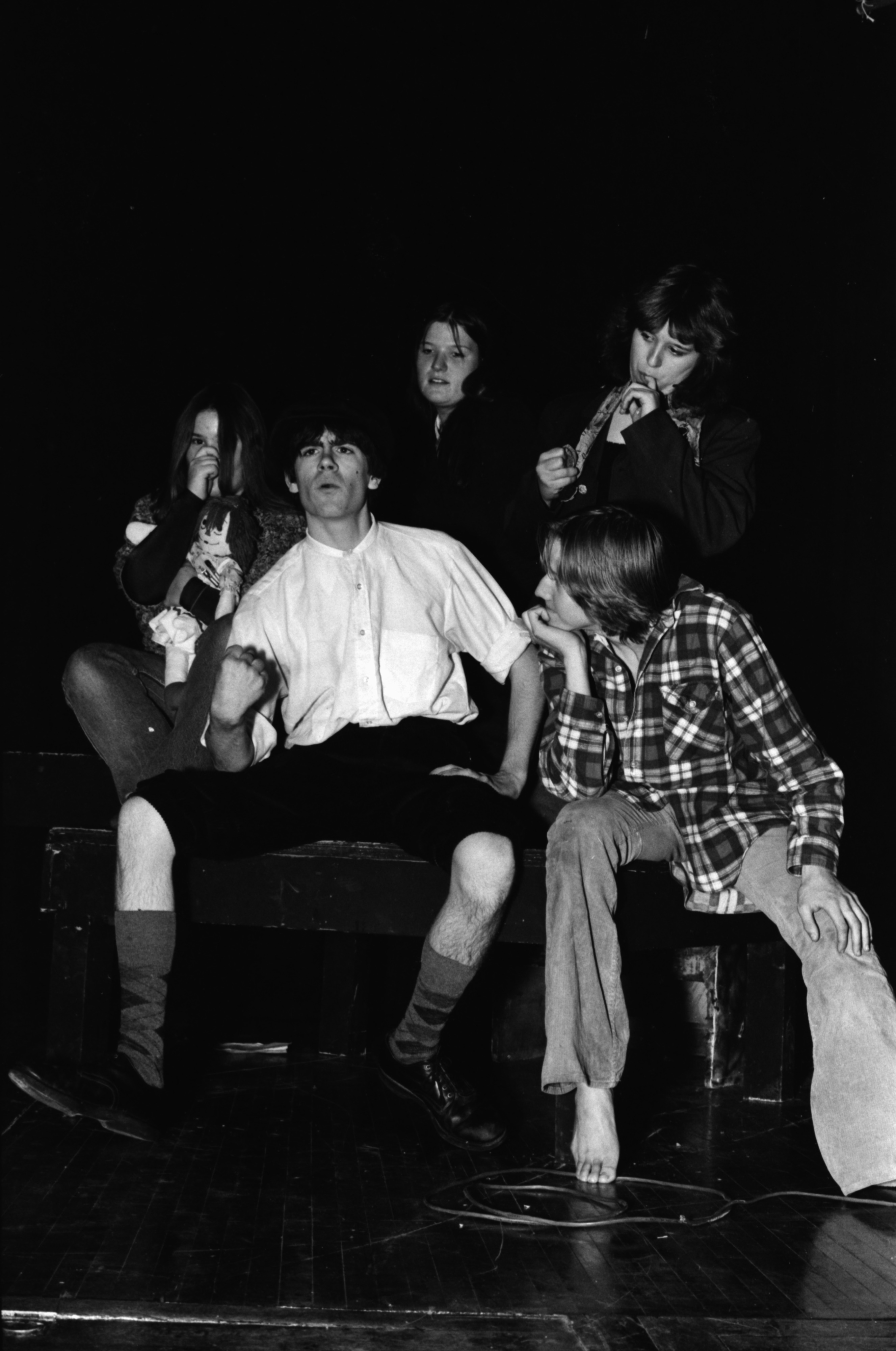 Community High School students rehearsing play about Thomas A. Edison, November 1979 image