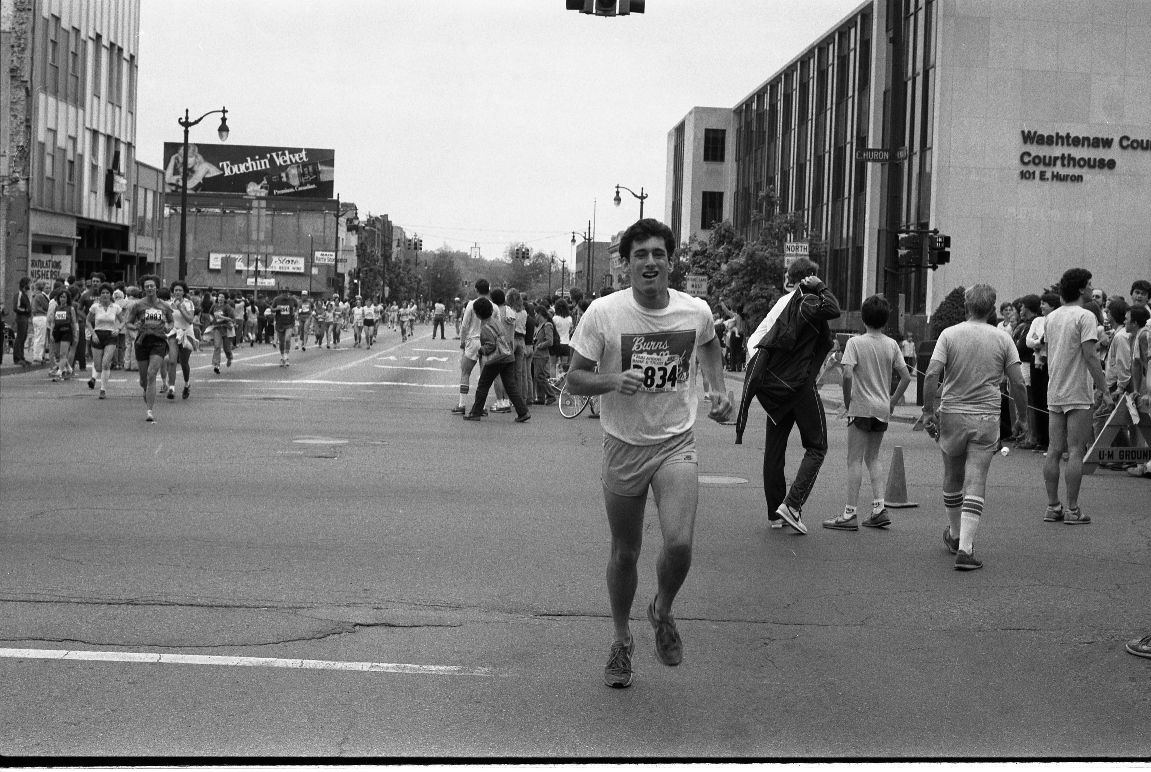 Alan Fanger, Ann Arbor News Reporter, Participates In The Dexter-Ann Arbor Run, May 29, 1983 image