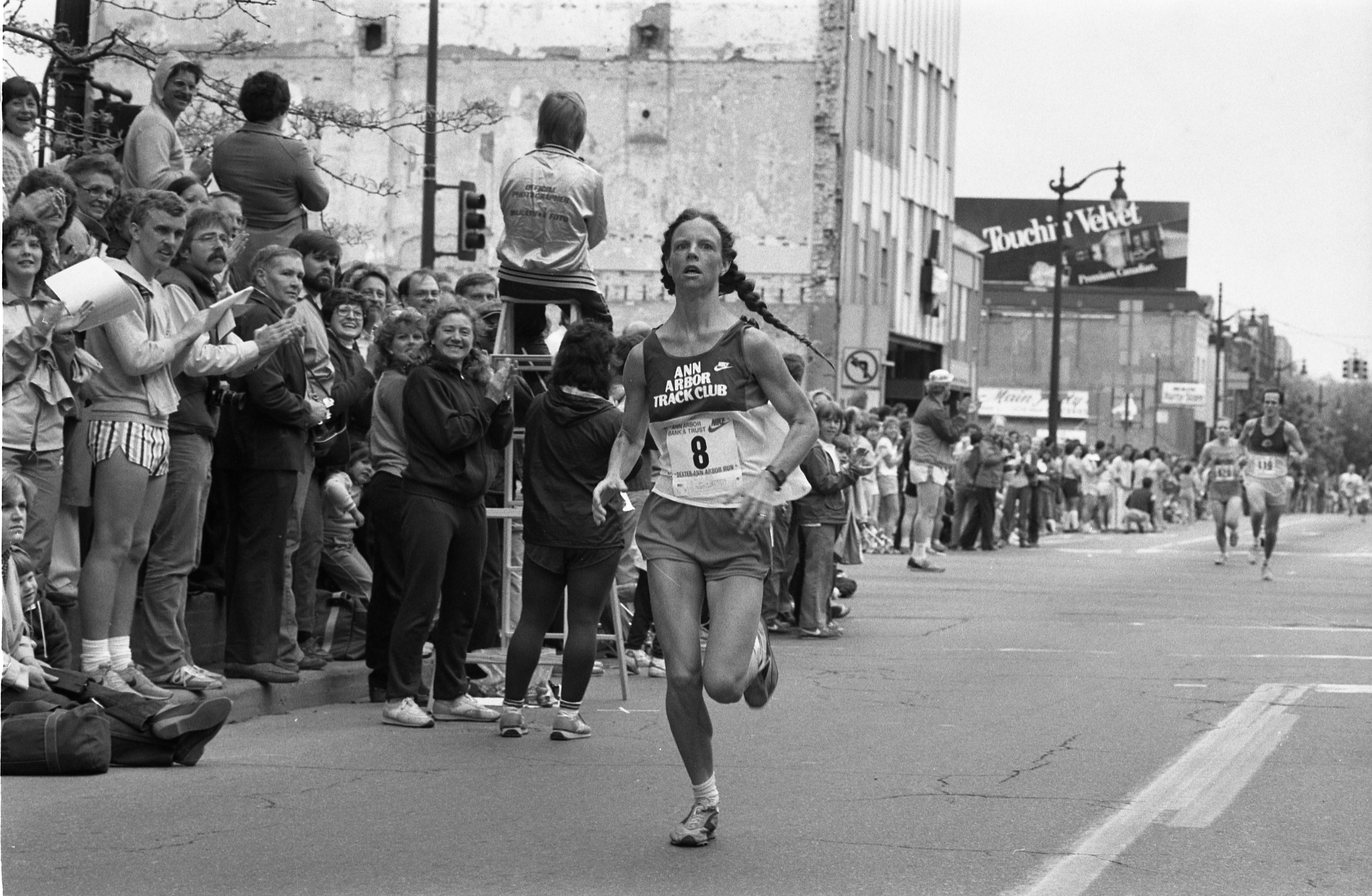 Carol Gephart Wins 13.1 Mile Race In The Dexter-Ann Arbor Run, May 29, 1983 image
