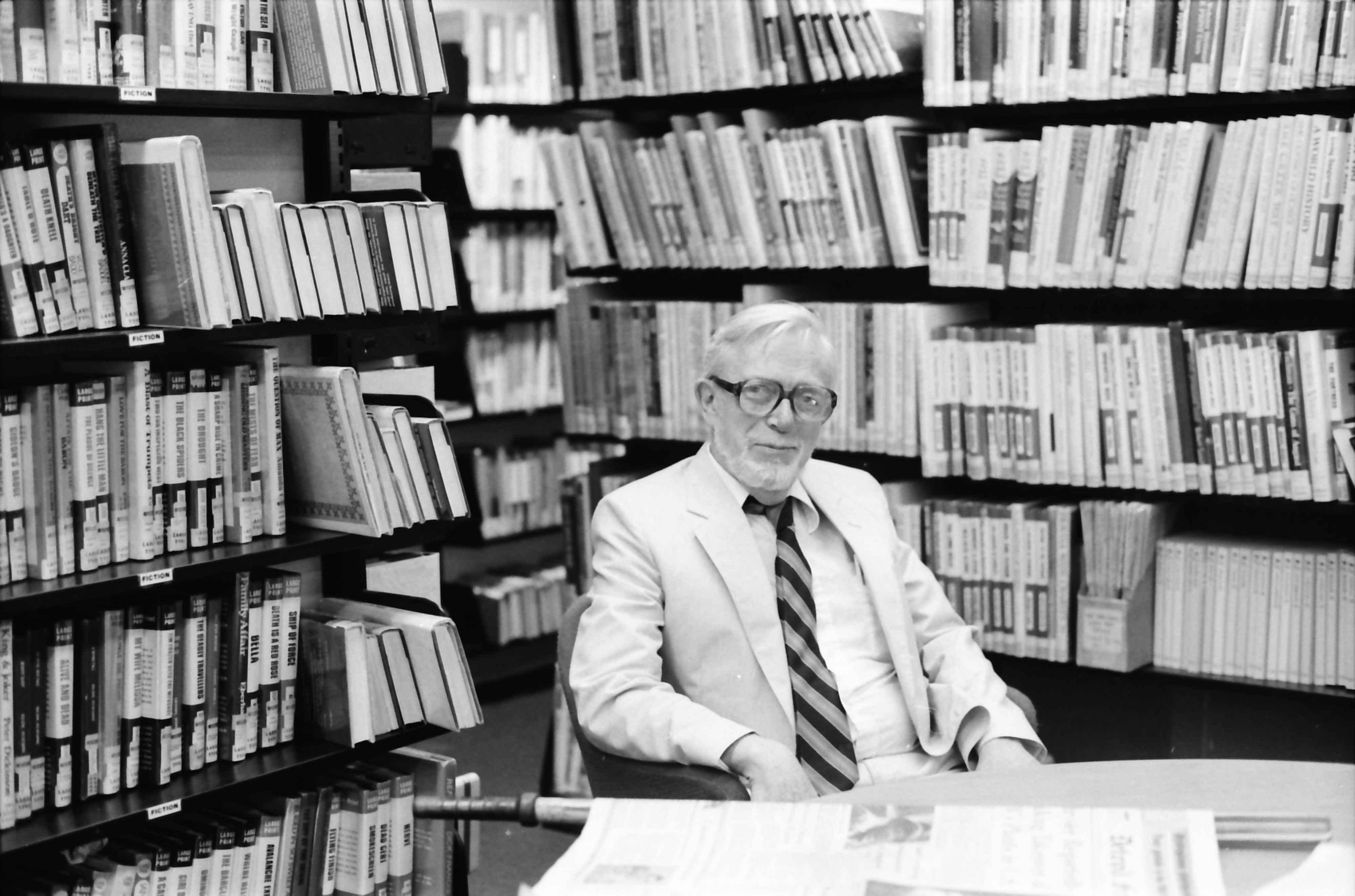 Ann Arbor Public Library Director Gene Wilson Talks About Retiring After 6 Years as Director and 32 Years With Library, June 1983 image
