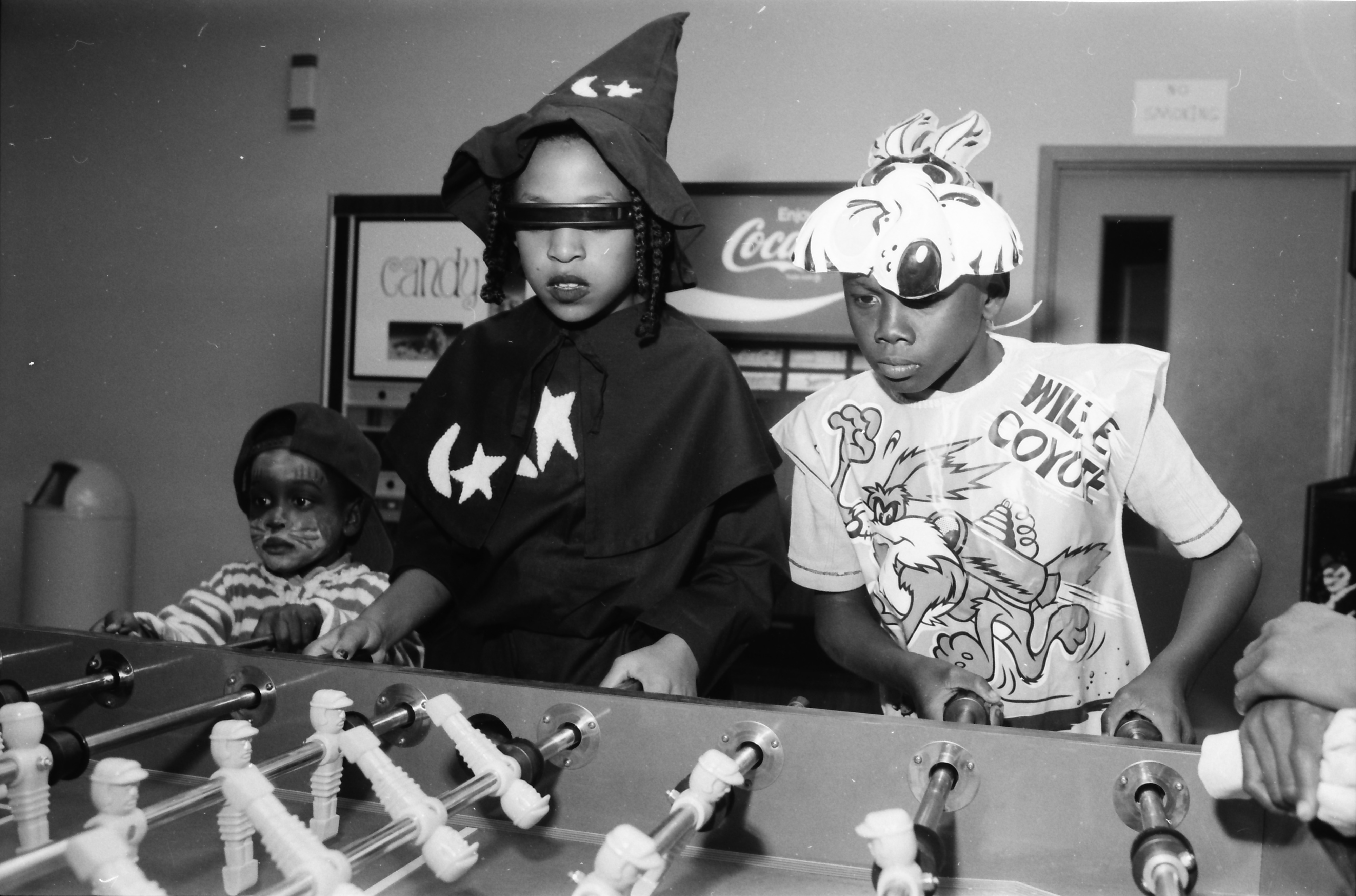 Foosball at Halloween Party at Parkridge Community Center, October 1983 image