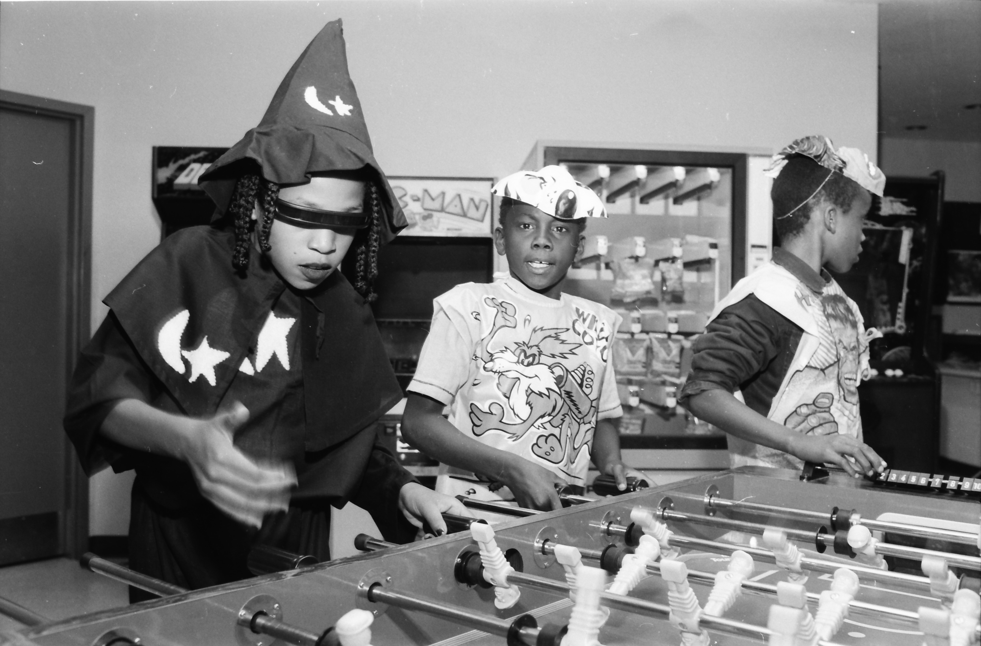 Playing Games at Halloween Party at Parkridge Community Center, October 1983 image