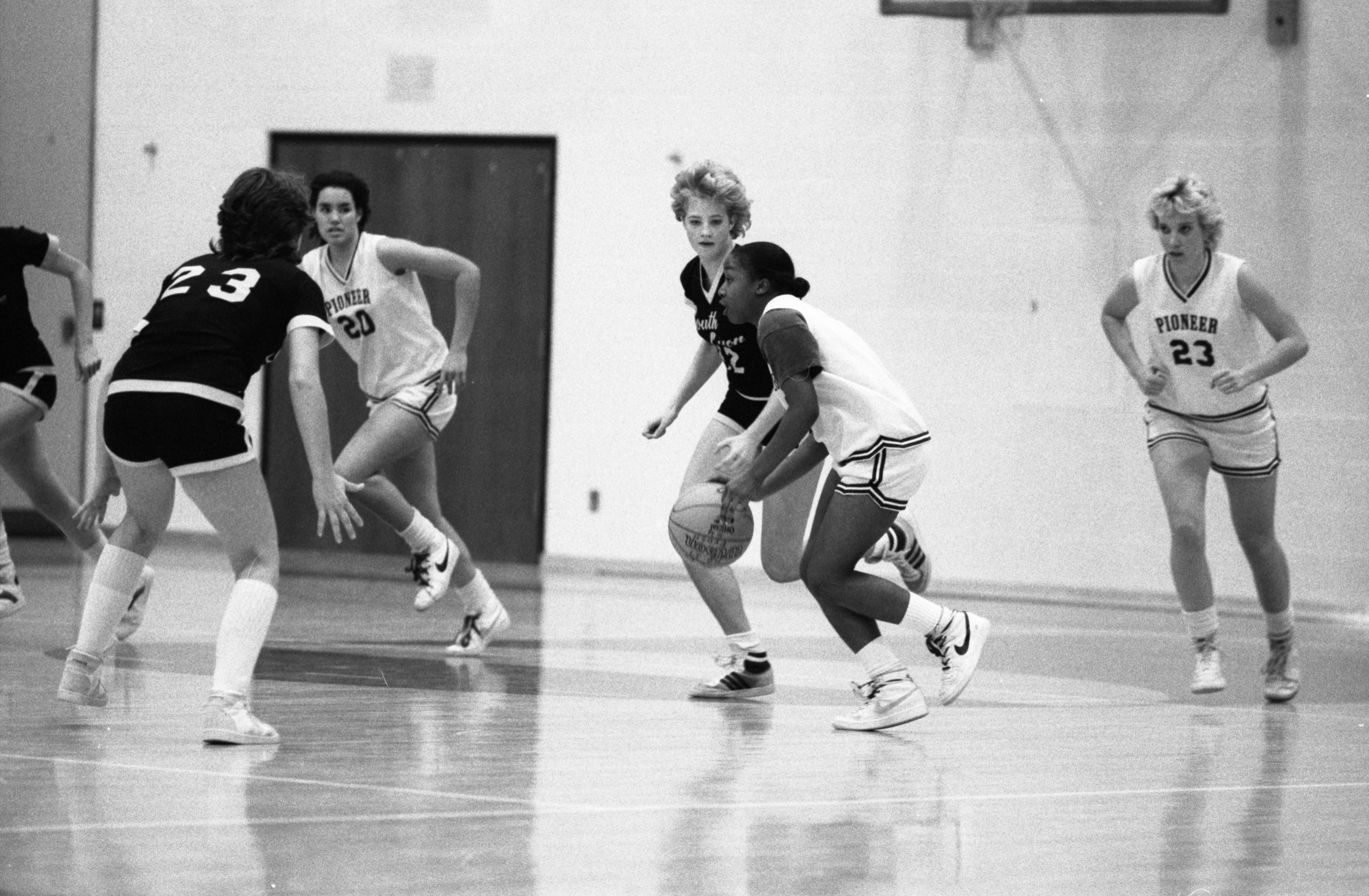 Girl's Basketball Finals, Pioneer Vs S. Lyon, November 1983 image