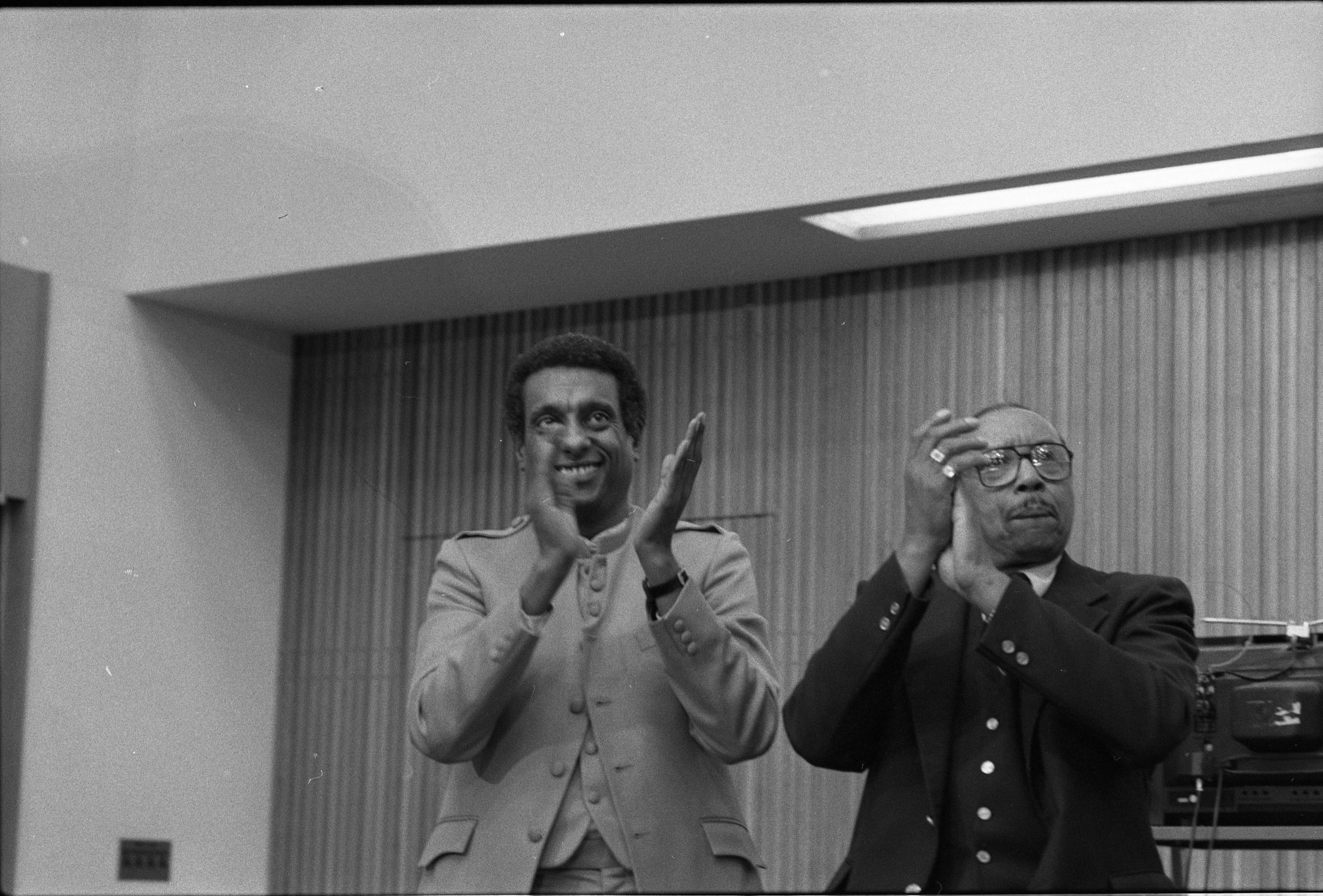 Stokely Carmichael & Floyd McKissick At Hale Auditorium For Conference Honoring Black History Month, February 13, 1983 image