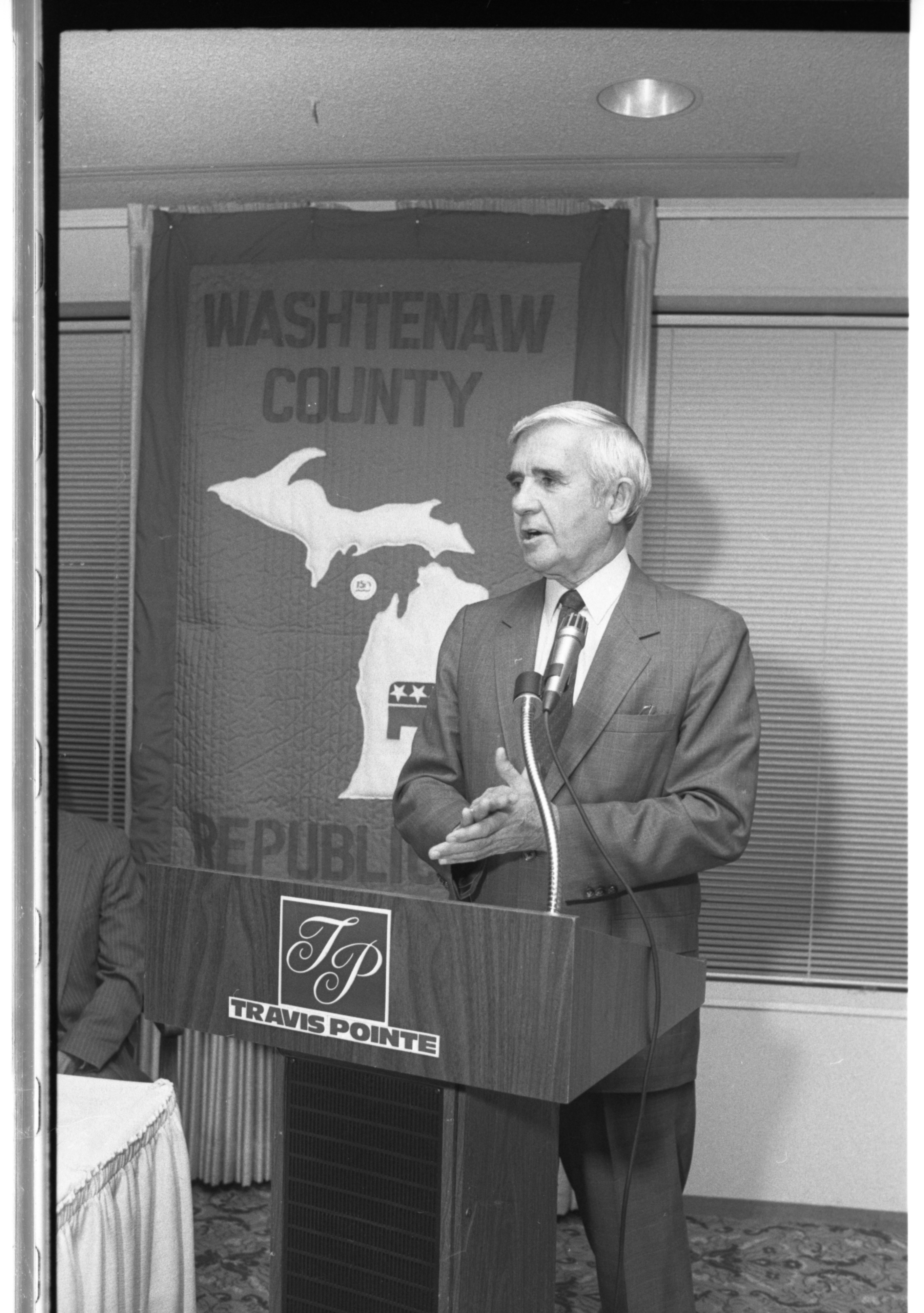 Sen. Paul Laxalt Speaking To Washtenaw County Republicans at Travis Pointe Country Club, June 1987 image