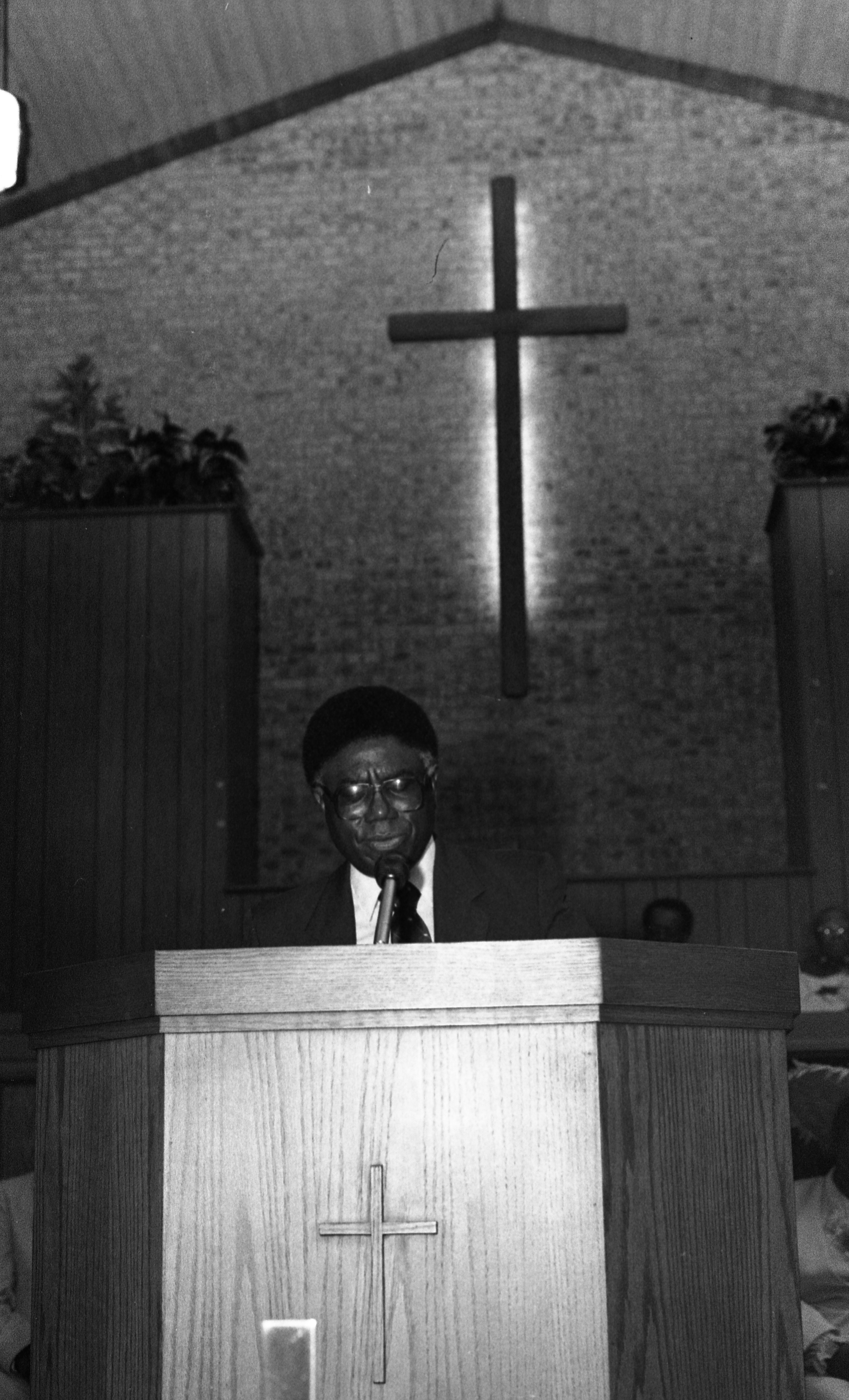 Rev. Booker T. Hopkins, Pastor of Second Baptist Church of Ypsilanti, July 1987 image