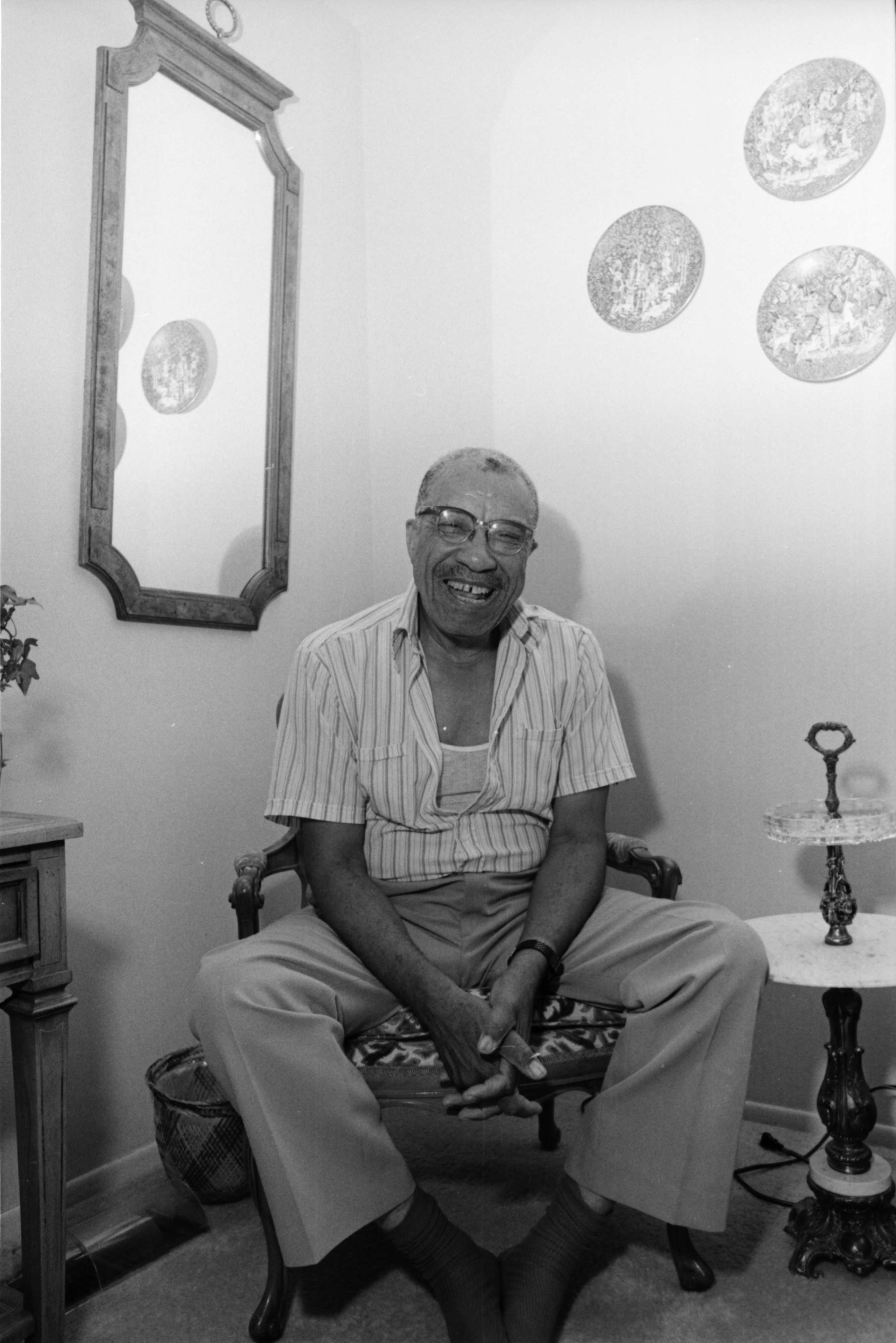 Ypsilanti Historian A.P. Marshall Laughing, July 1987 image
