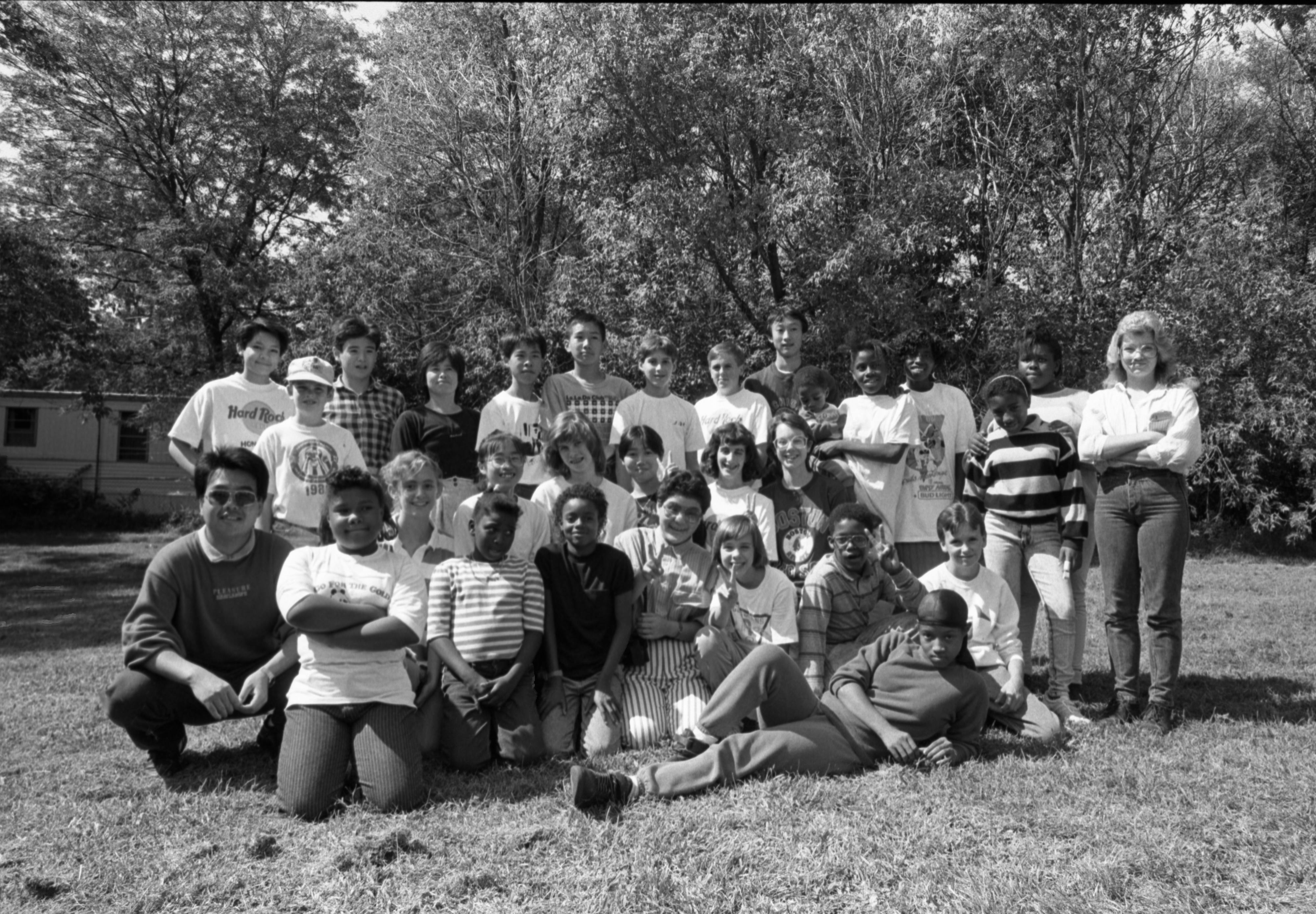 Group Shot Of Visitors From Sister City, Hikone, Japan, & Children From The Hikone Housing Project, September 17, 1988 image