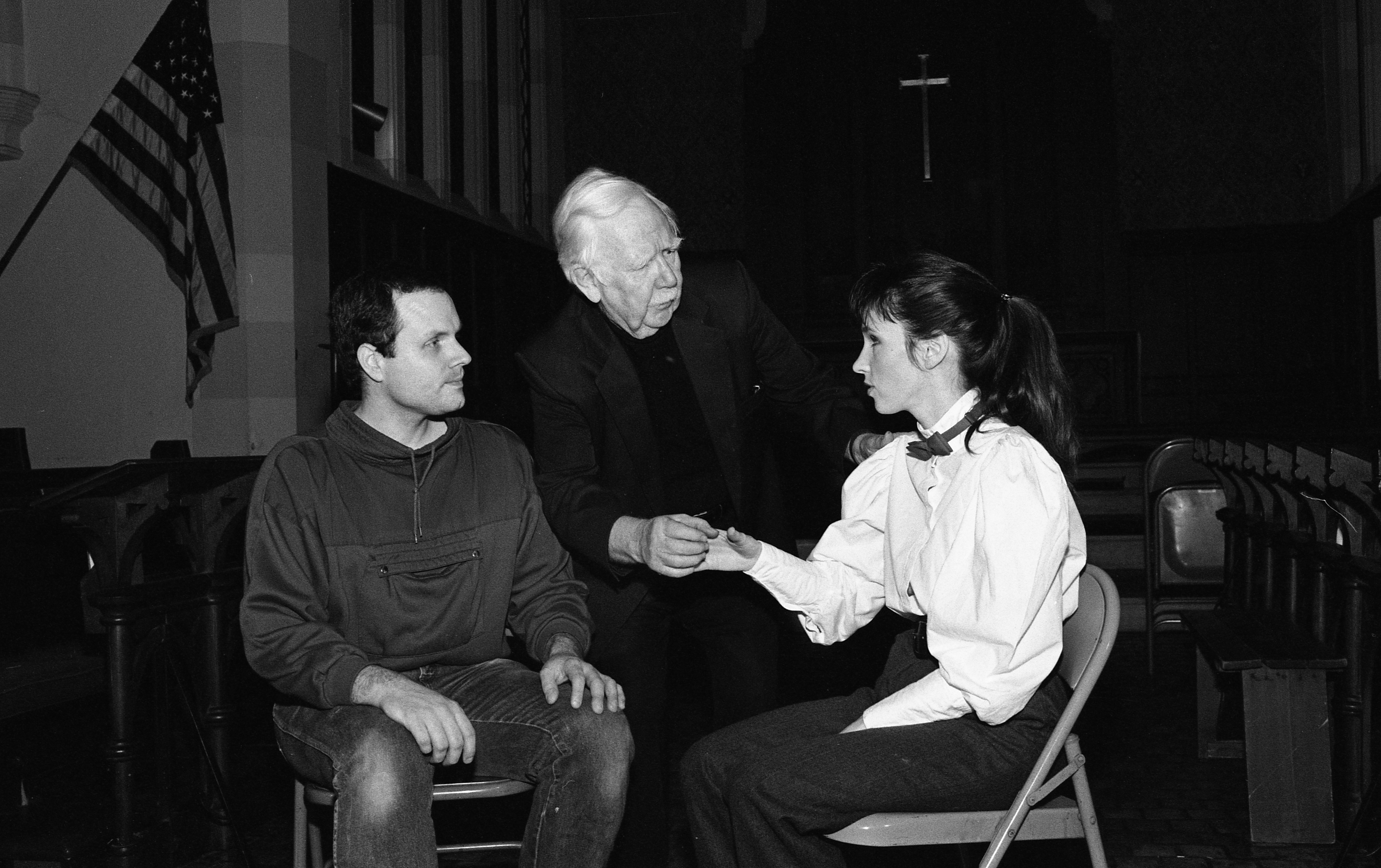 Cast Rehearses 'Our Town' at St. Andrew's Episcopal Church, February 1989 image