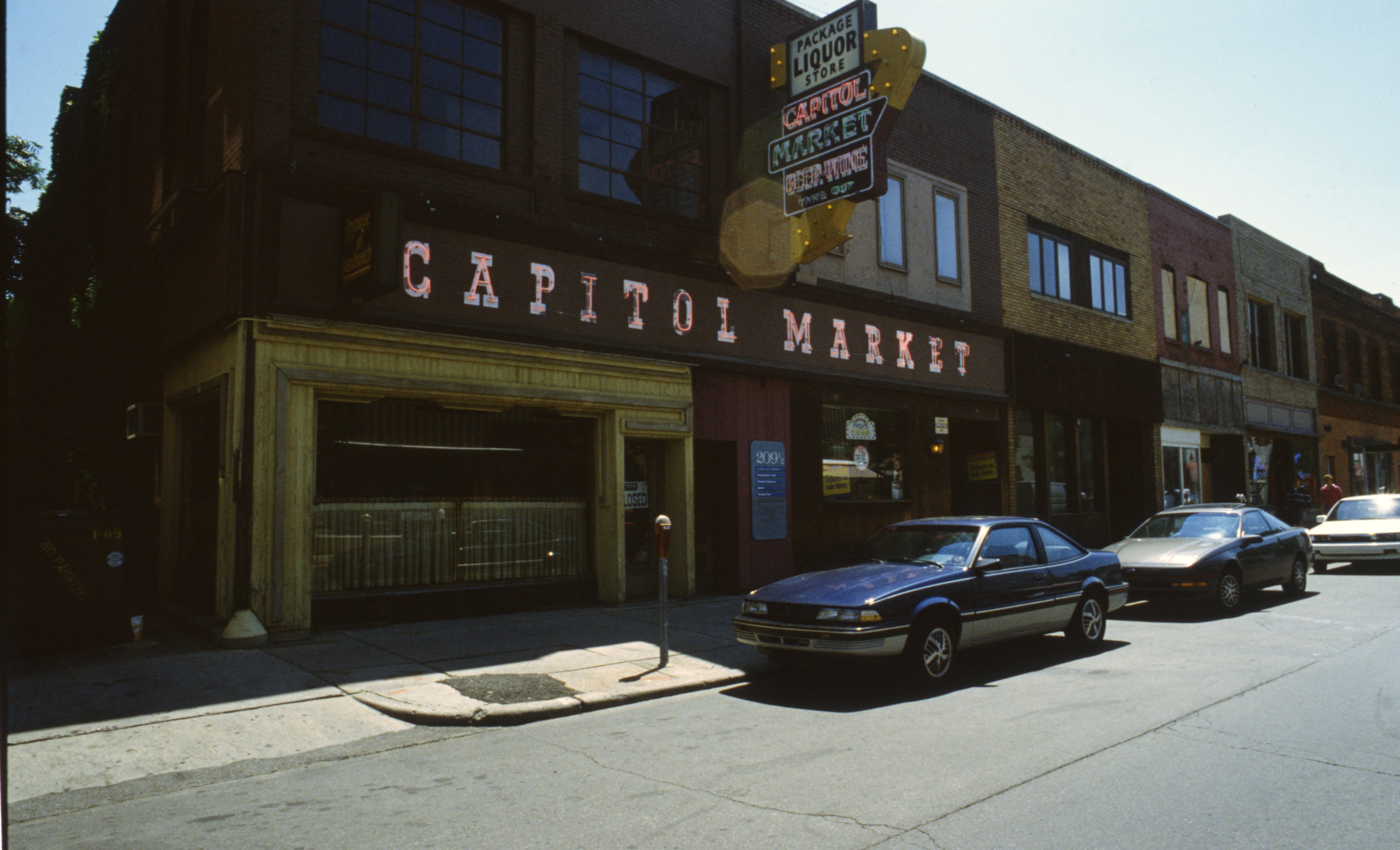 Capitol Market on Fourth Avenue, August 1989 image