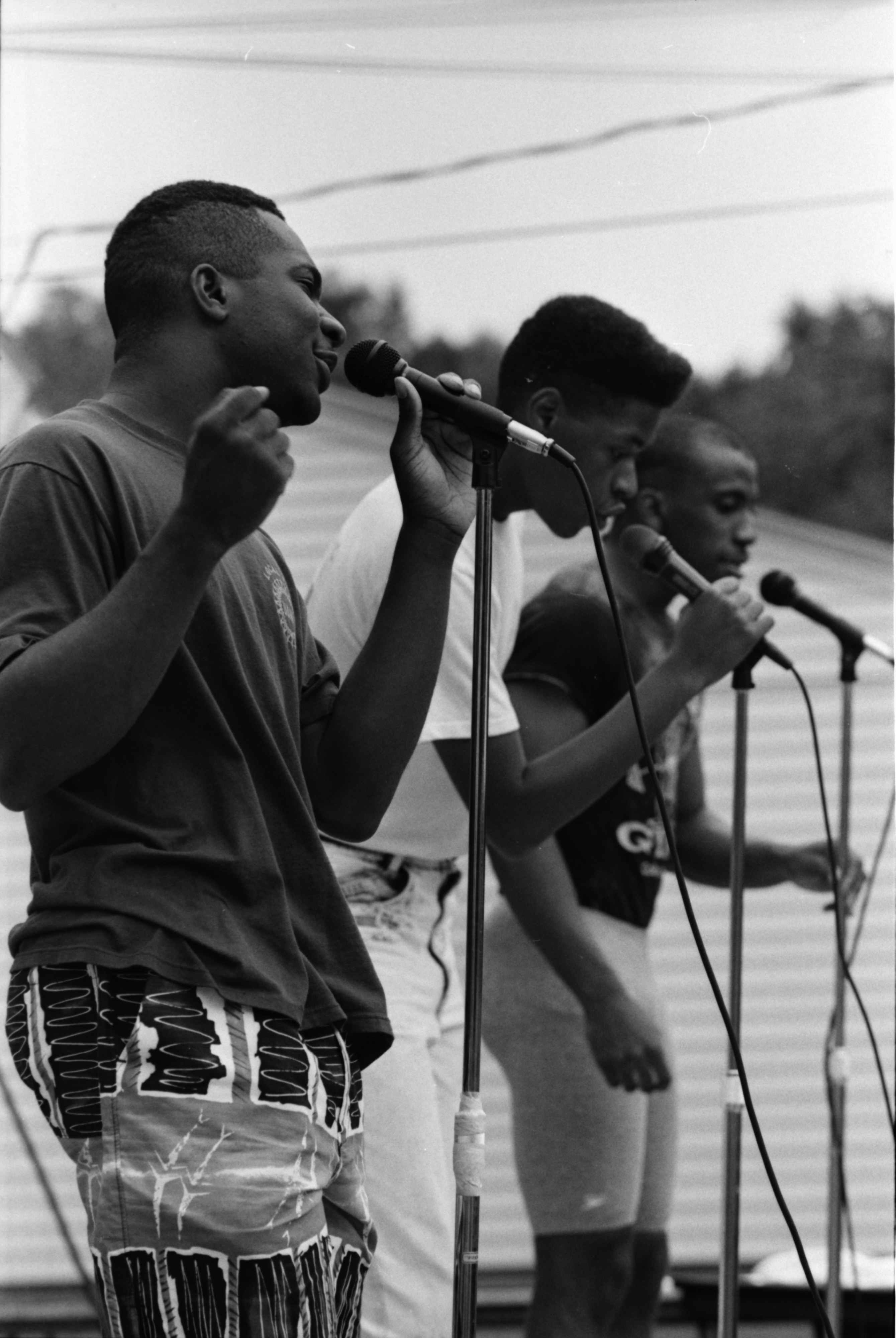 Singers at Peace Neighborhood Center Summer Camp Party, August 1989 image