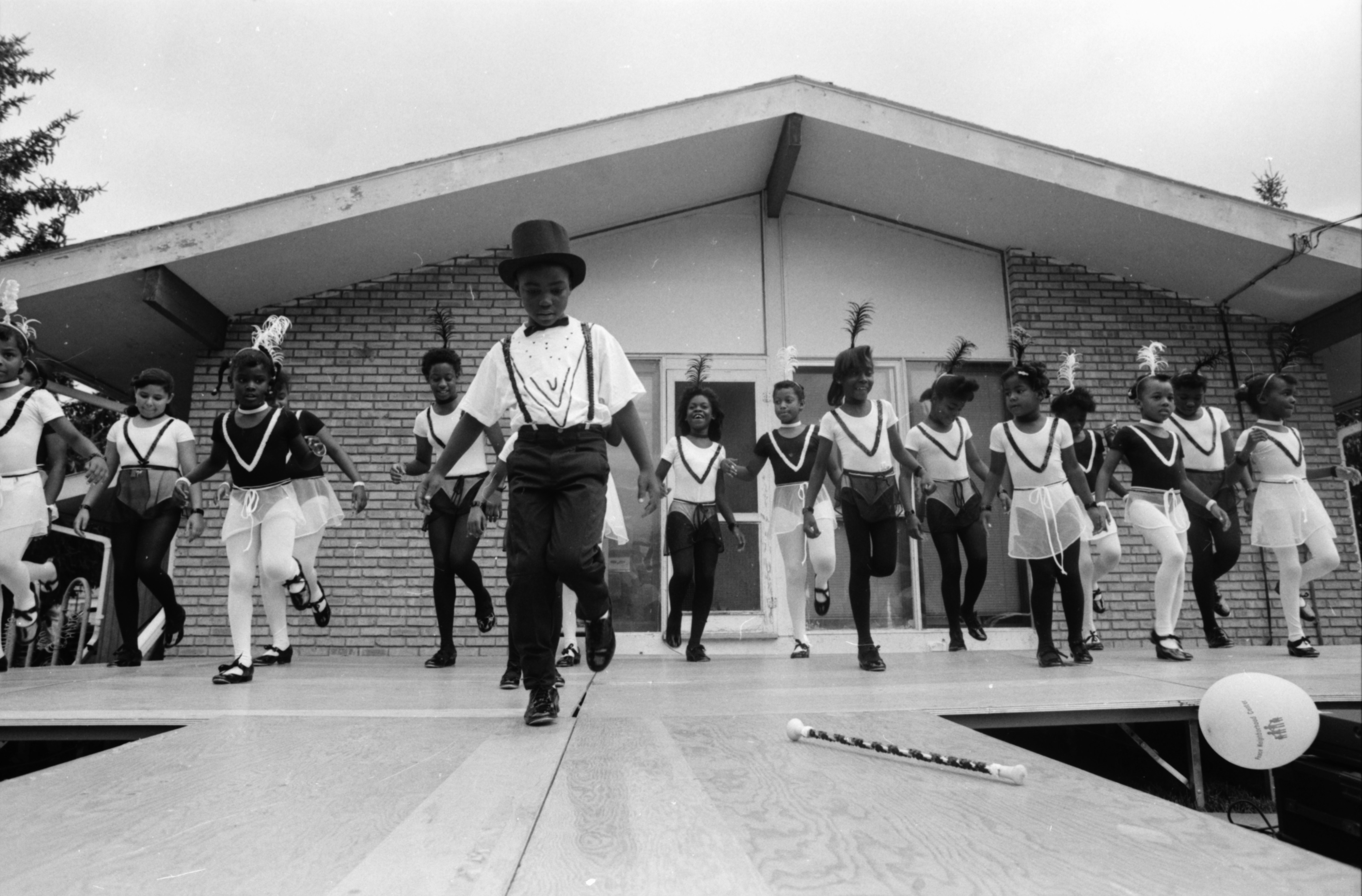 Tap Dancing at Peace Neighborhood Center Summer Camp Party, August 1989 image