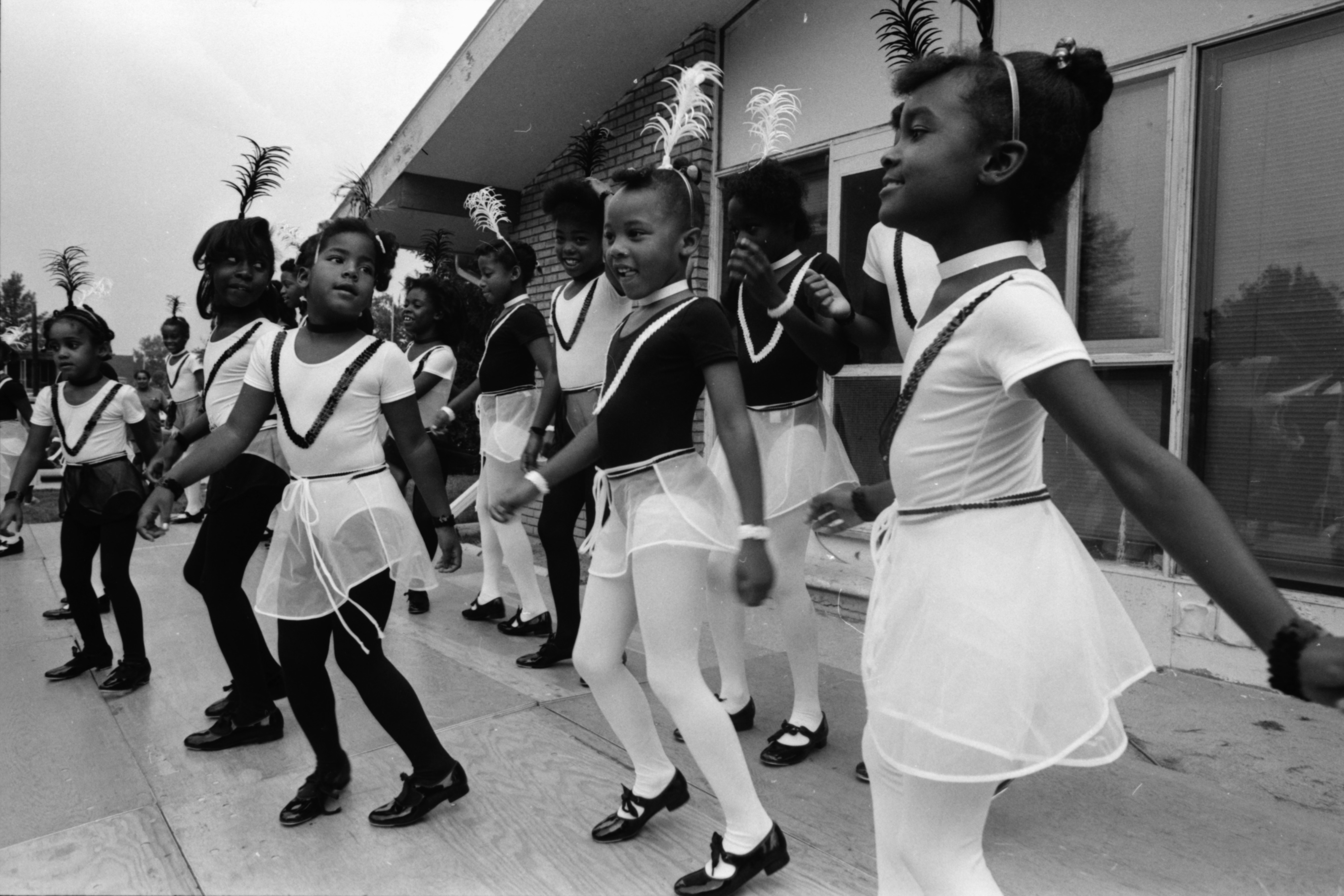 Peace Center Tappers Perform at Summer Camp Party, August 1989 image