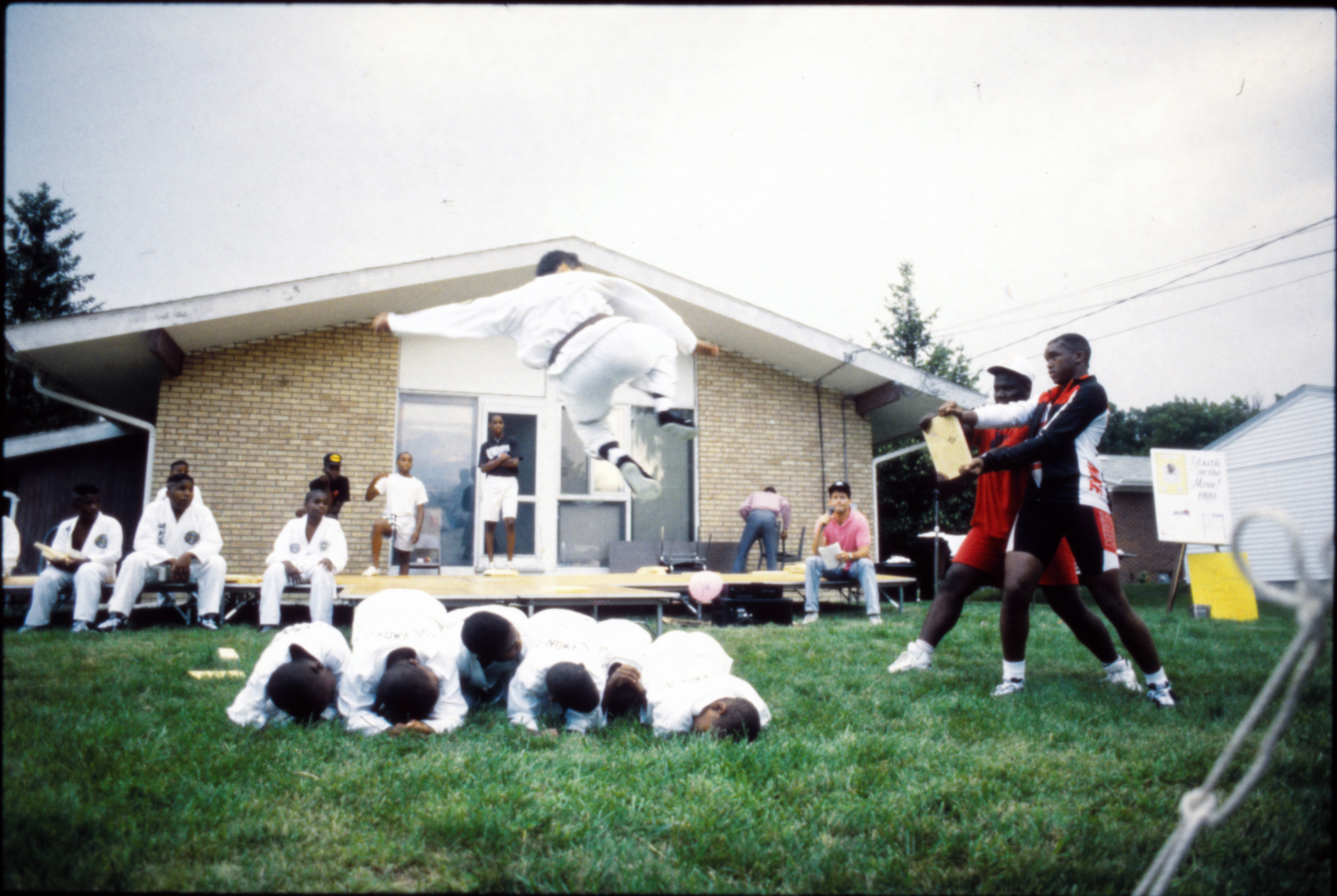 Tae Kwon Do at Peace Neighborhood Center Summer Camp Party, August 1989 image