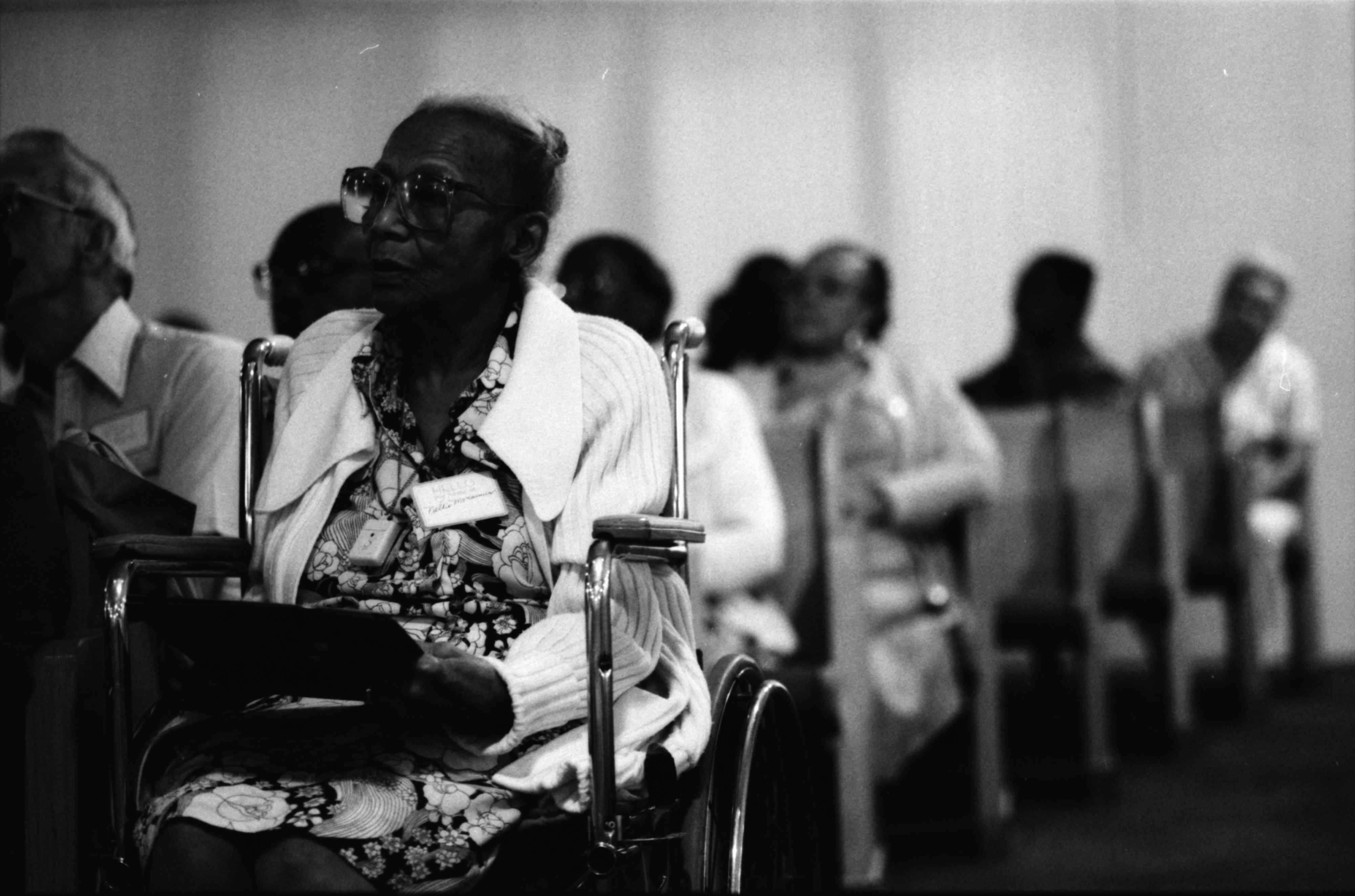 Nellie Monamus Attends Homeowners Workshop for Senior Citizens at Bethel AME Church, August 1989 image