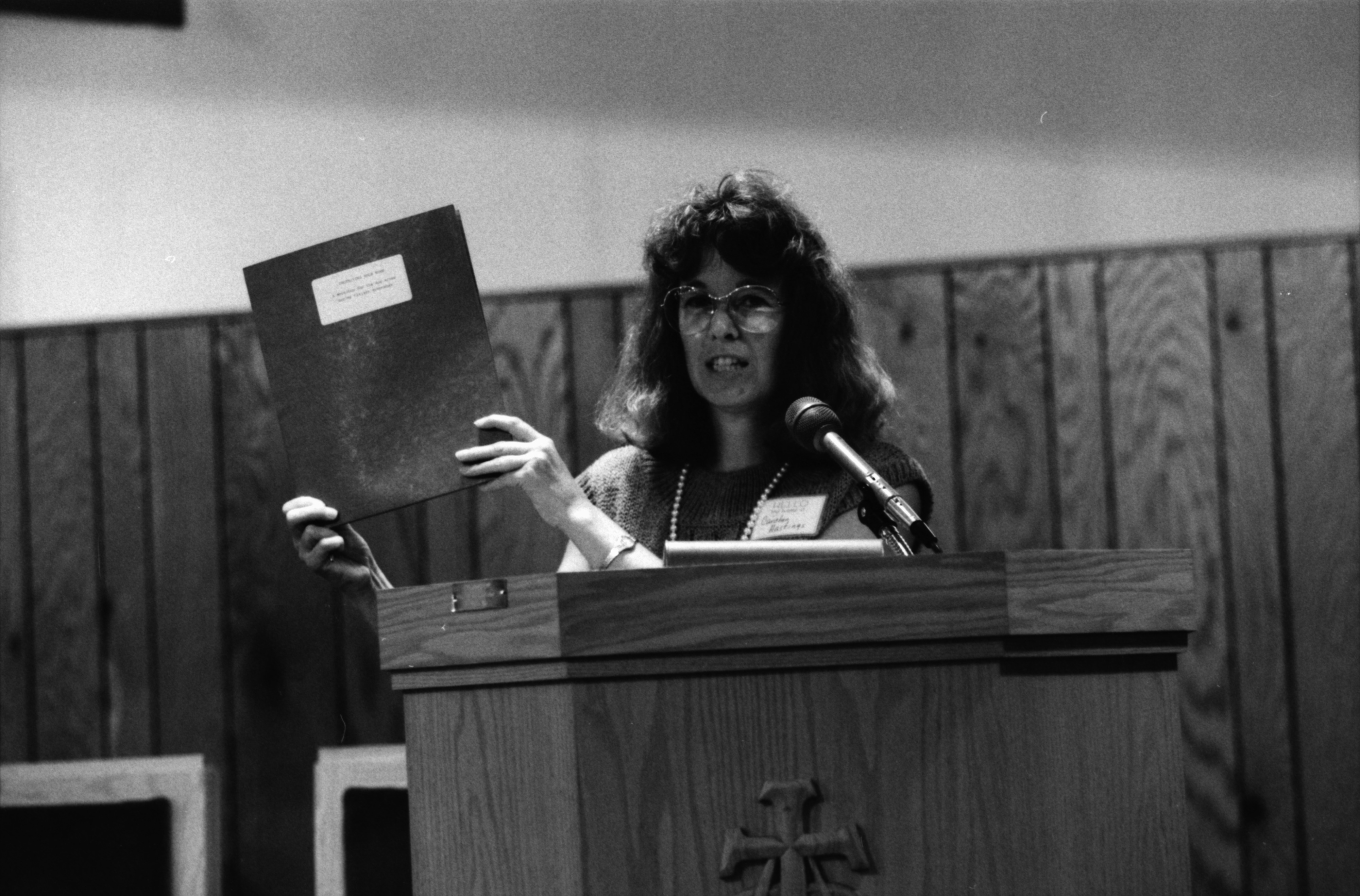 Carolyn Hastings Speaks at Homeowners Workshop for Senior Citizens at Bethel AME Church, August 1989 image