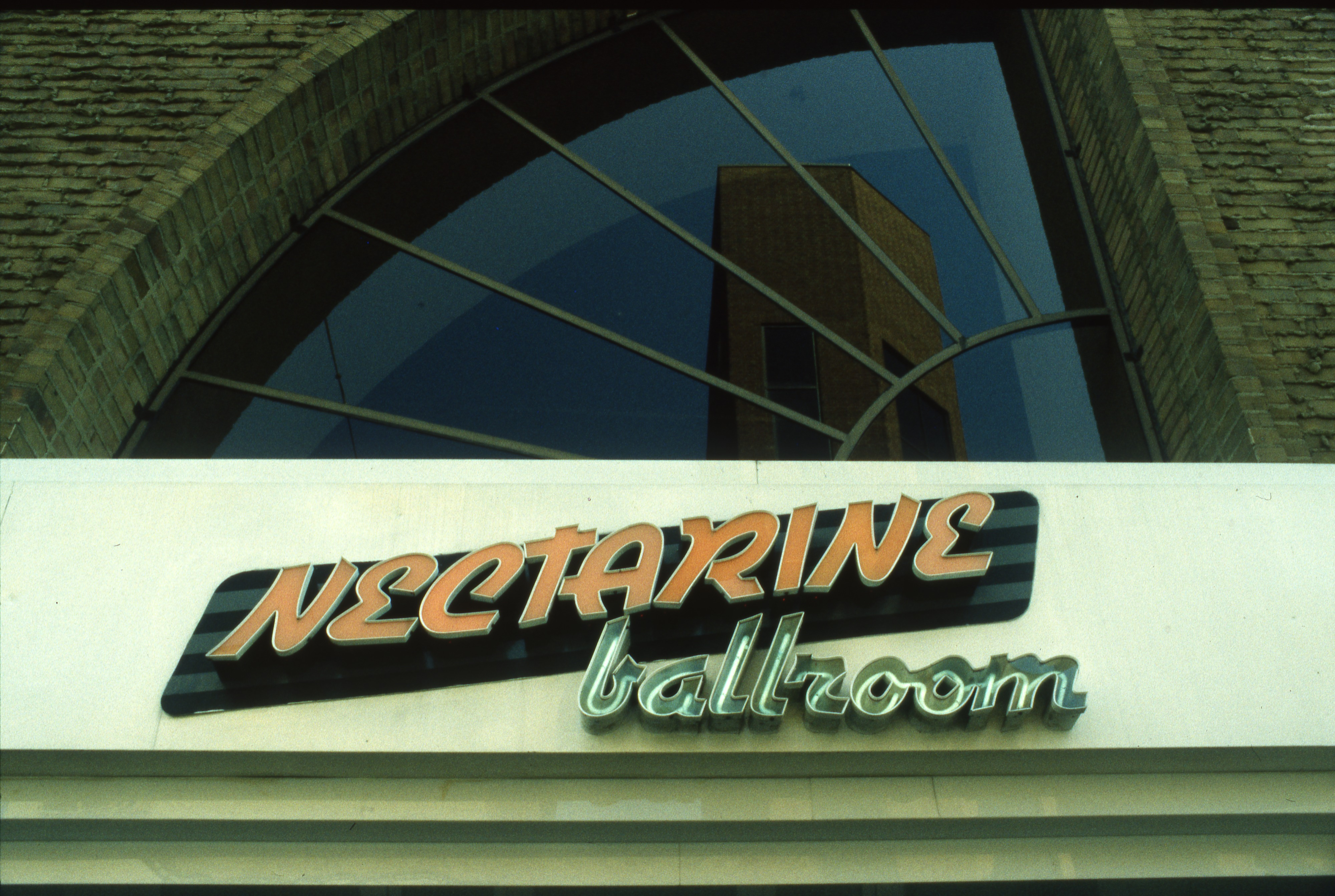 Nectarine Ballroom Sign, September 7, 1989 image