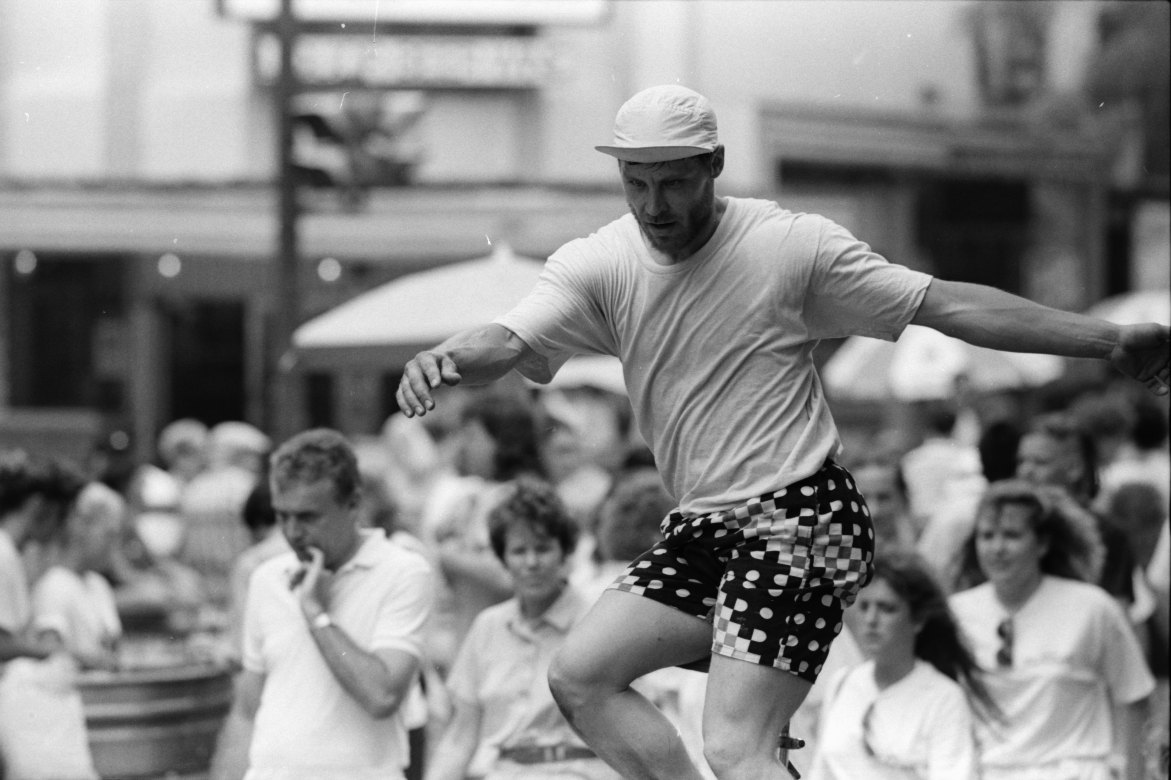 Unicycling on Main St., Taste of Ann Arbor, June 1990 image