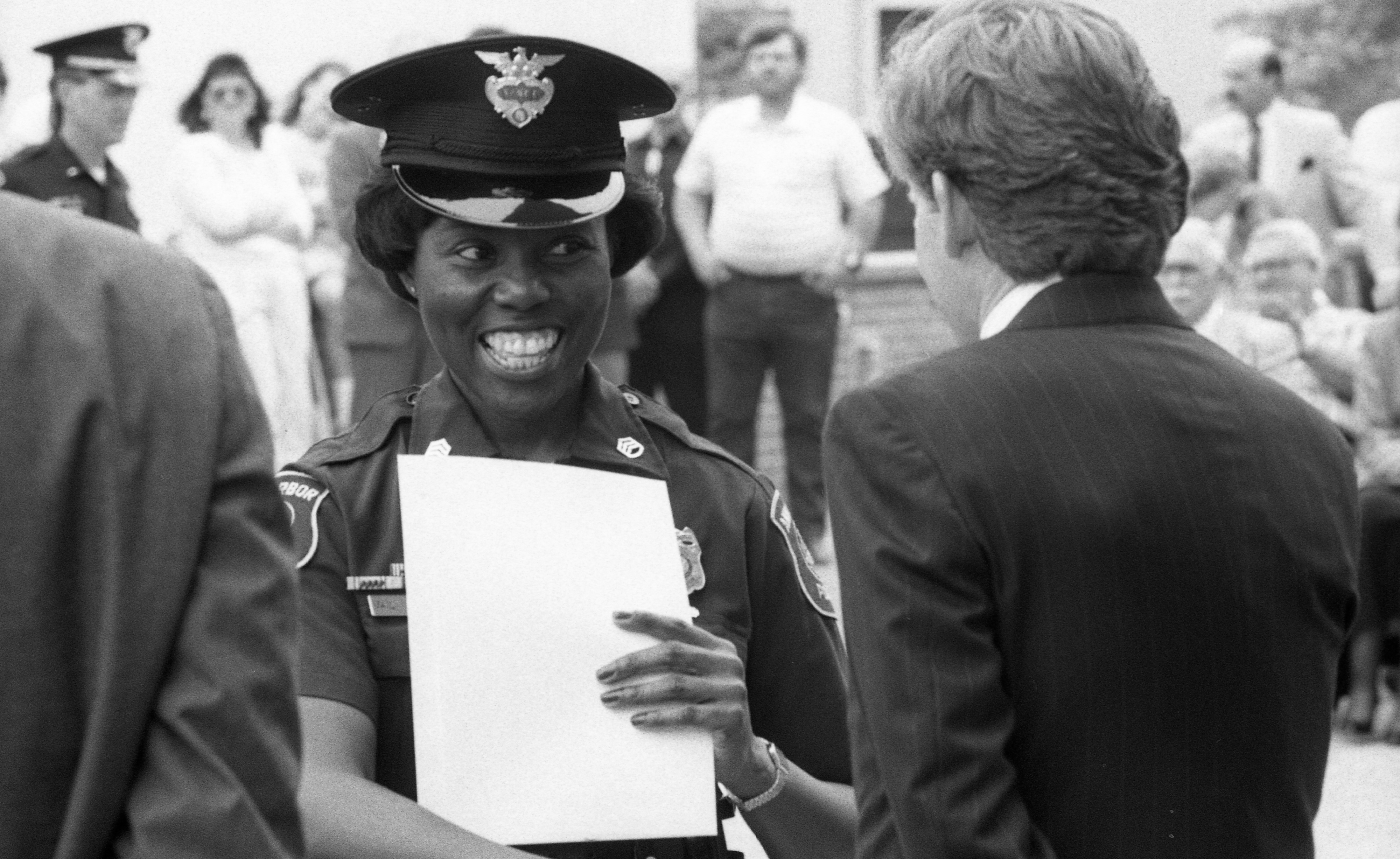 Proud Recipient at Ann Arbor Police Department Community Service Awards Ceremony, June 1990 image