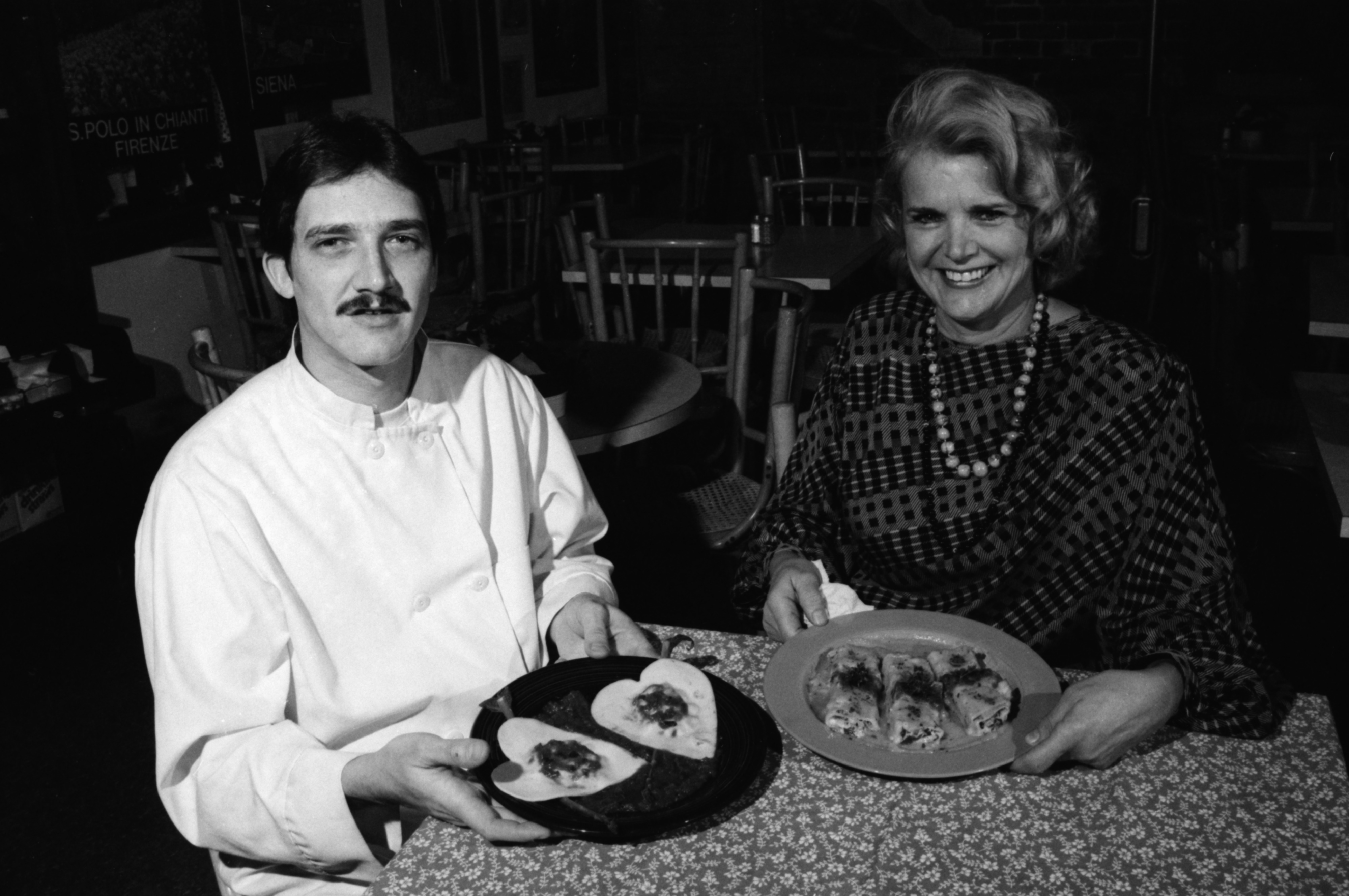 Marguerite Oliver and Chef Ian Cummings, February 1990 image