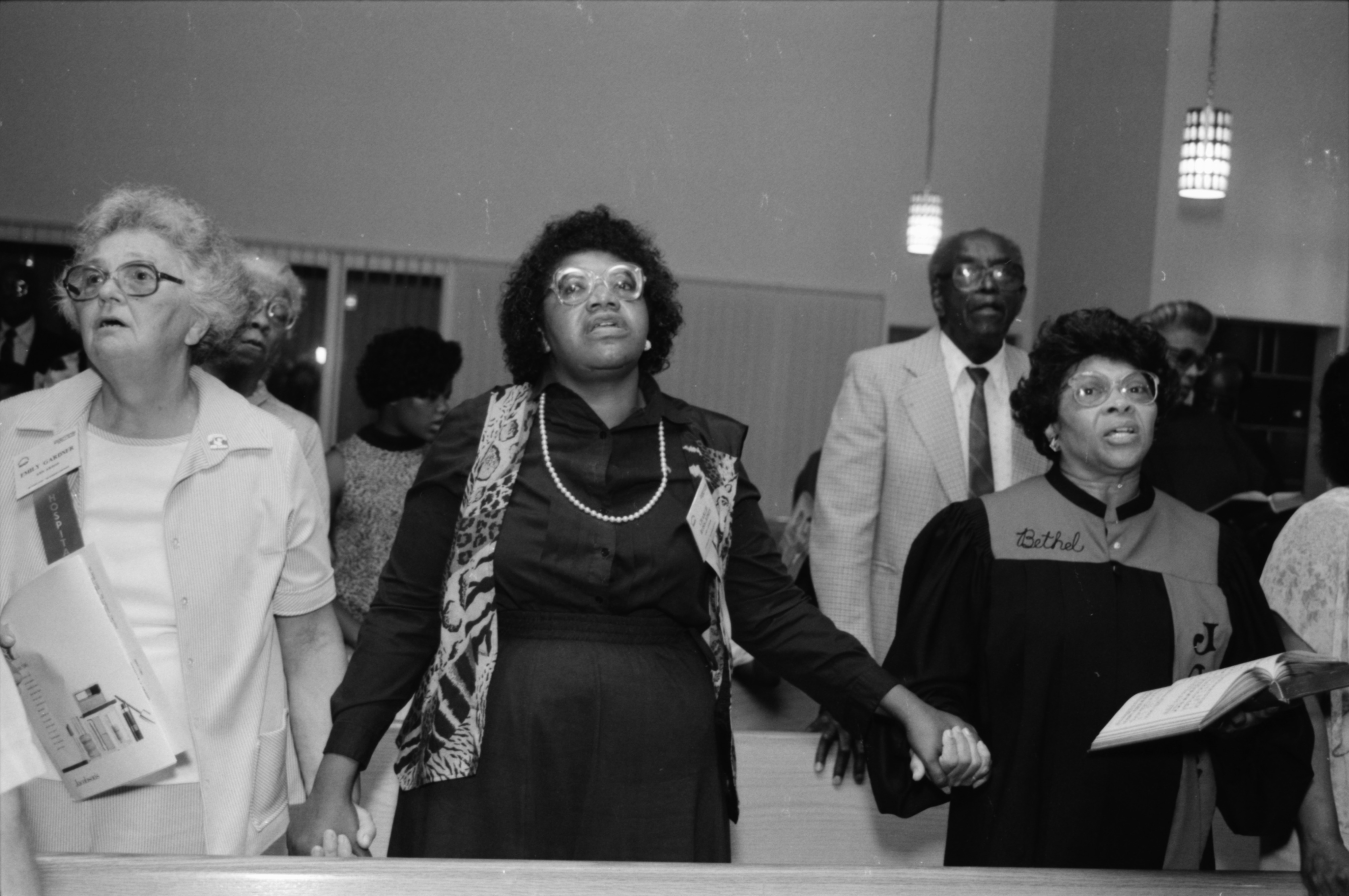 Audience Participates in Gospel Songquake III at Bethel AME Church, September 1989 image