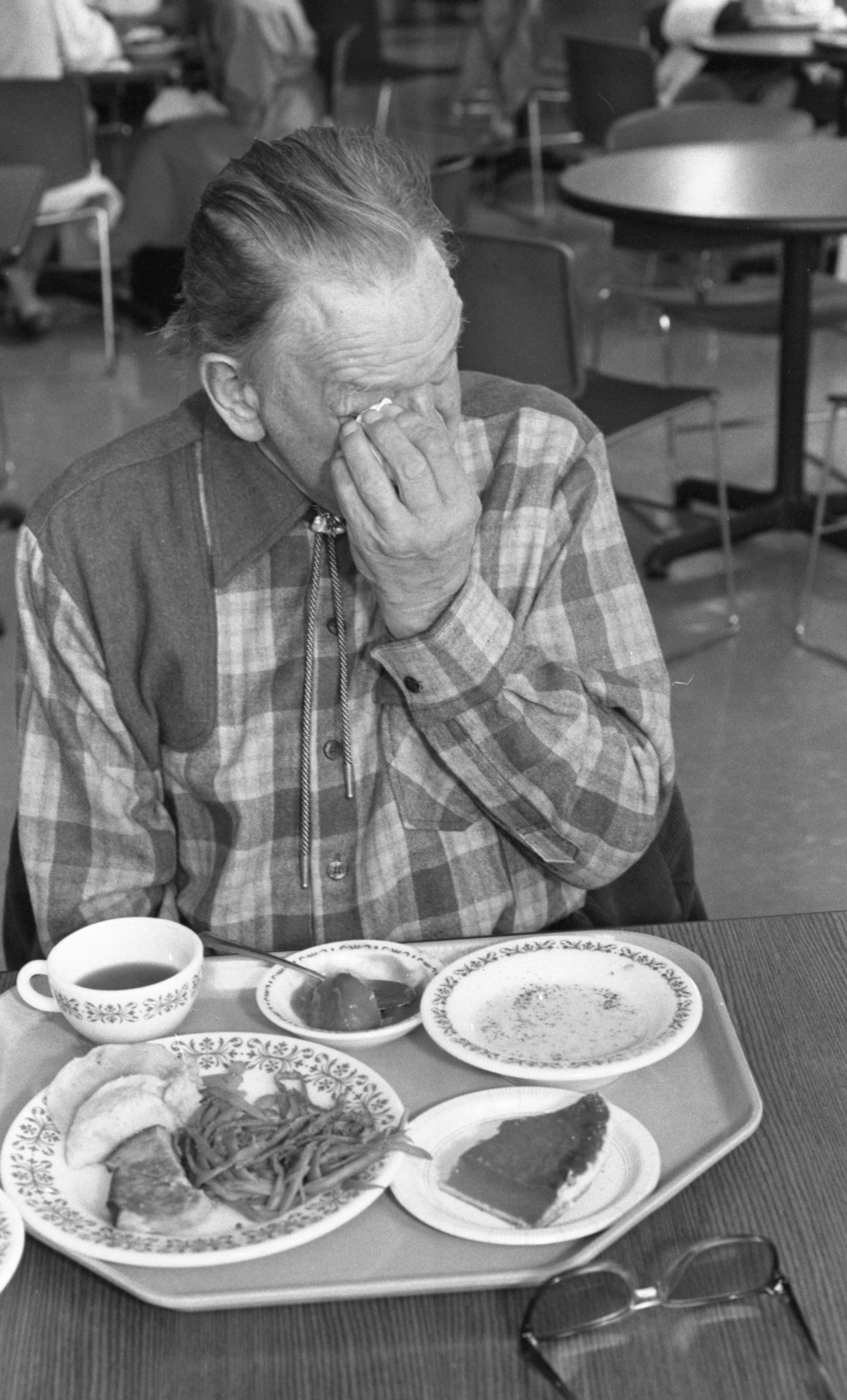 Bill Hersch Misses His Deceased Wife During Thanksgiving Day Dinner, November 1989 image