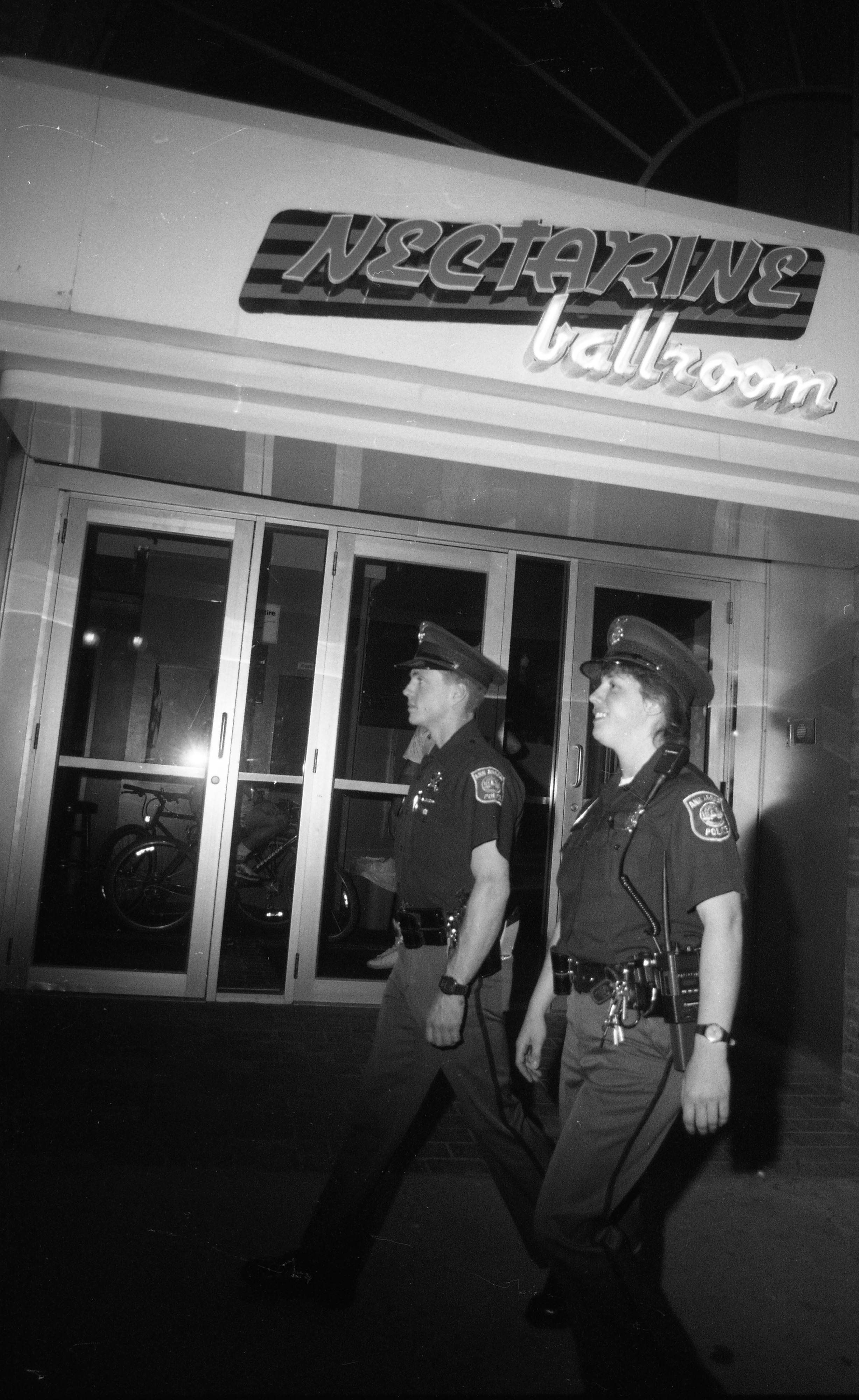 Ann Arbor Police Department Special Problems Unit Outside Nectarine Ballroom, April 1990 image