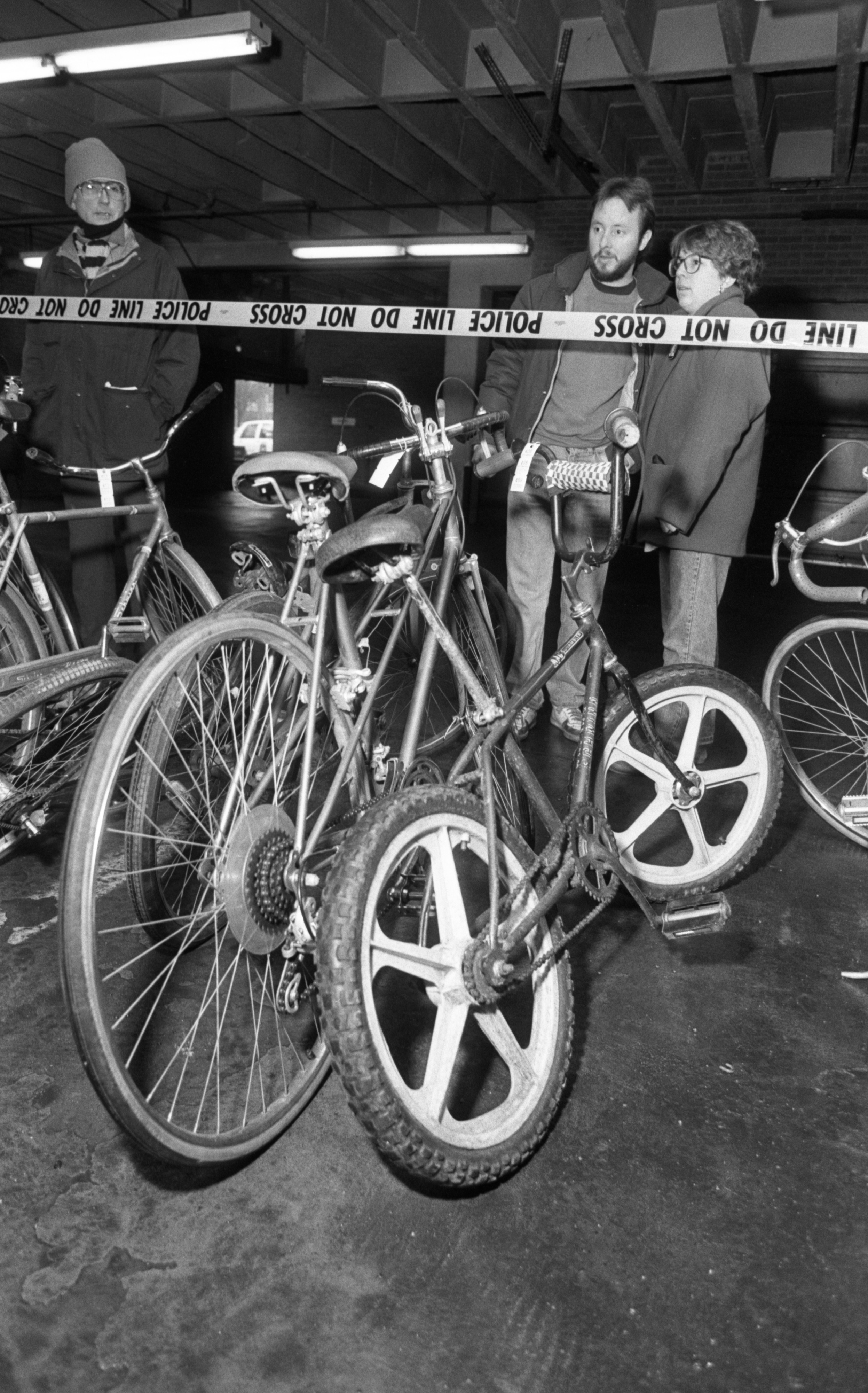 Bicycle Bonanza at Ann Arbor Police Department Auction, March 1990 image
