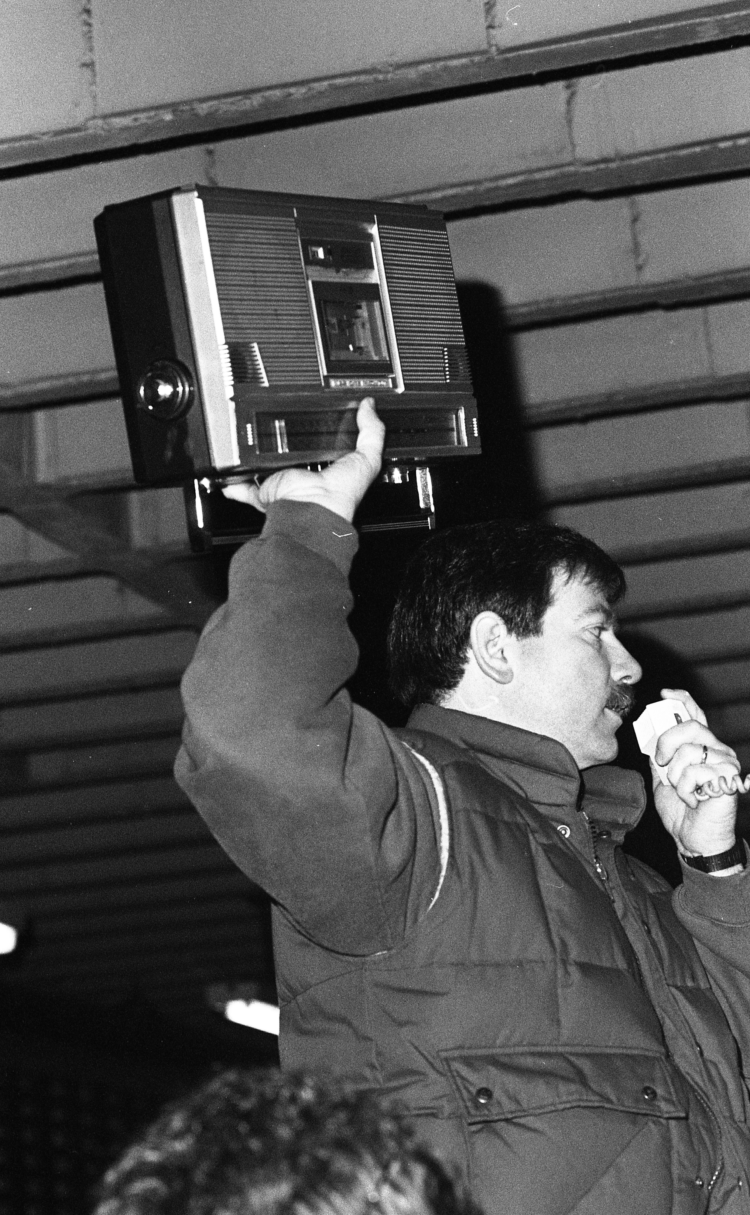 Ann Arbor Police Department 'Auctioneer' Officer David Woodside, March 1990 image