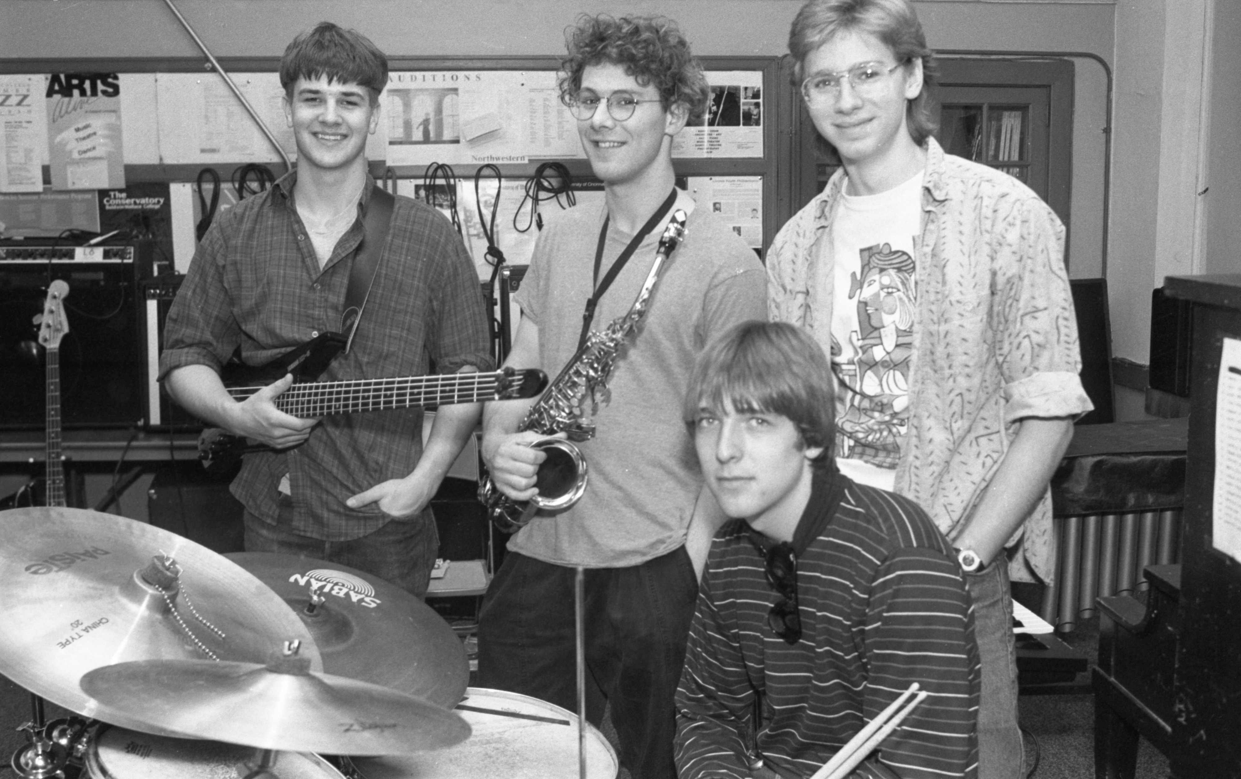 Community High School's 1:45 Jazz Ensemble, March 1990 image