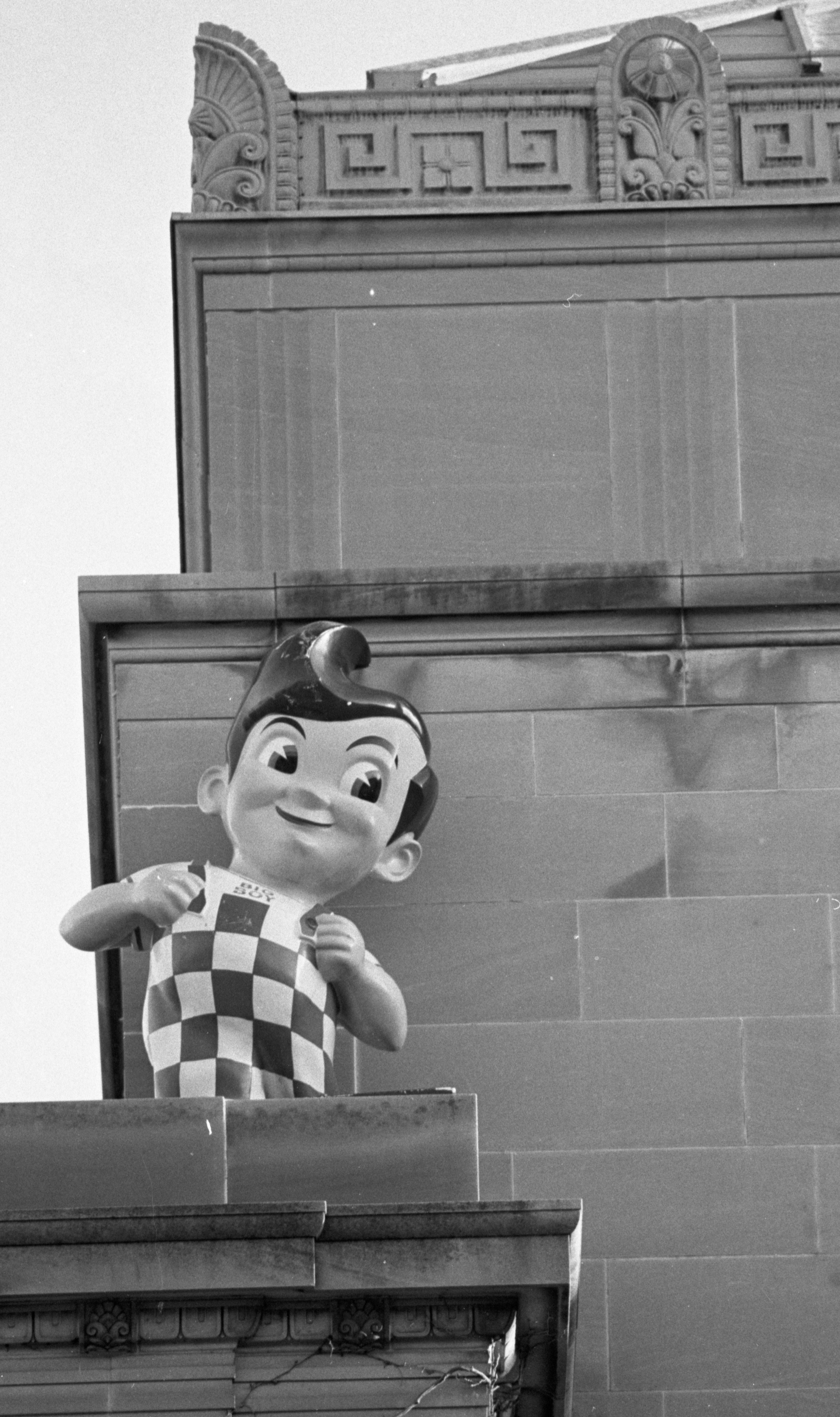 Stolen Big Boy Reappears On The Roof Of The Rackham Building, April 1990 image