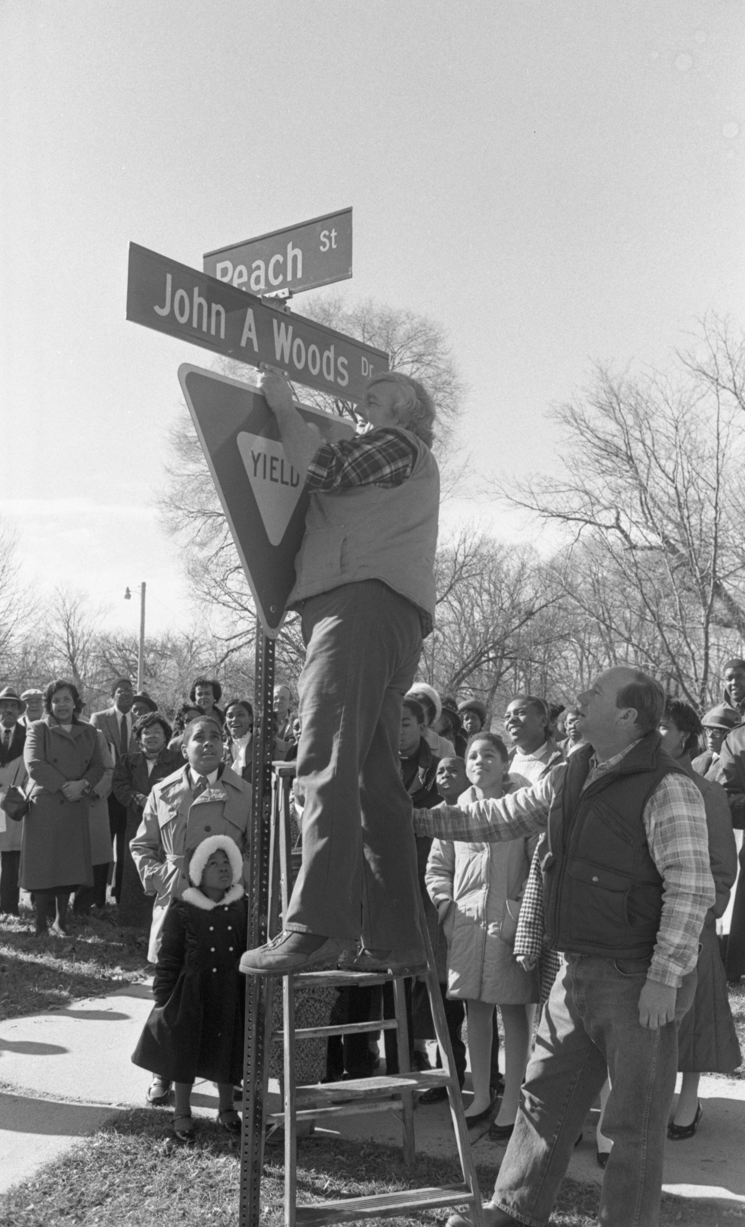 Plum Street Renamed In Ceremony To Honor Rev. John A. Woods, February 1990 image