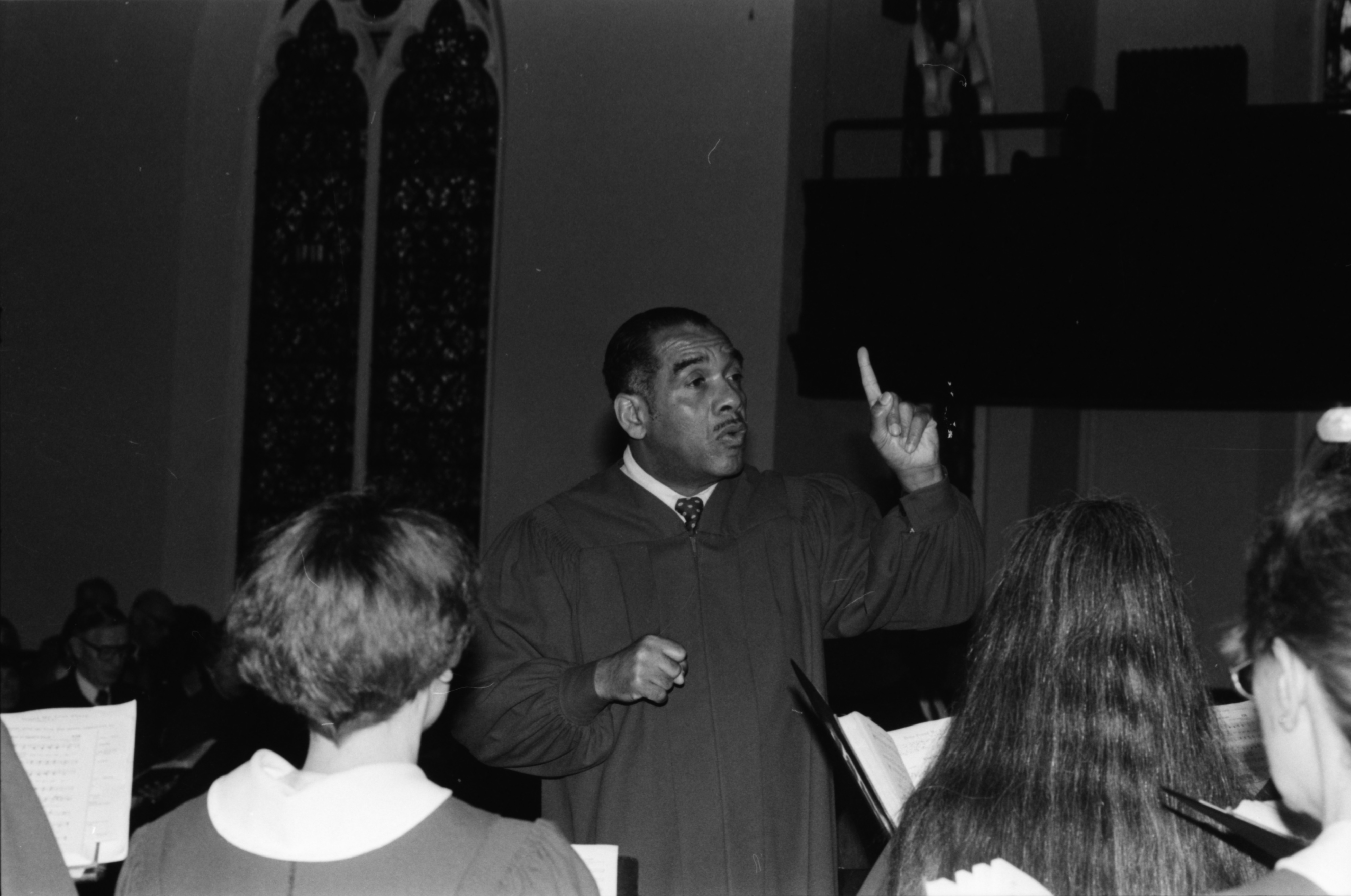Willis Patterson Directs Church Choir, February 1990 image