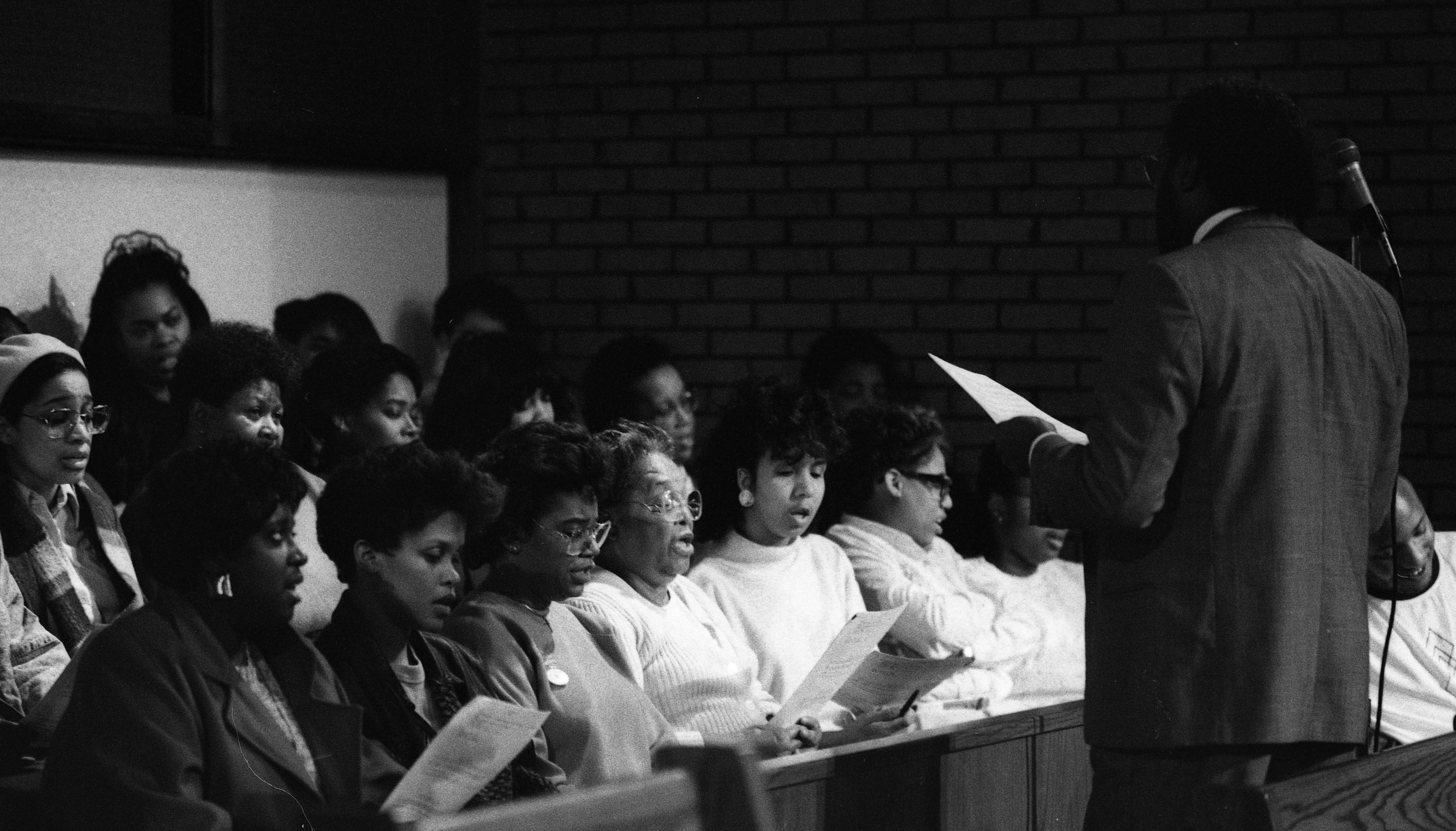 Ministerial Alliance Choir at Second Baptist Church, April 1990 image