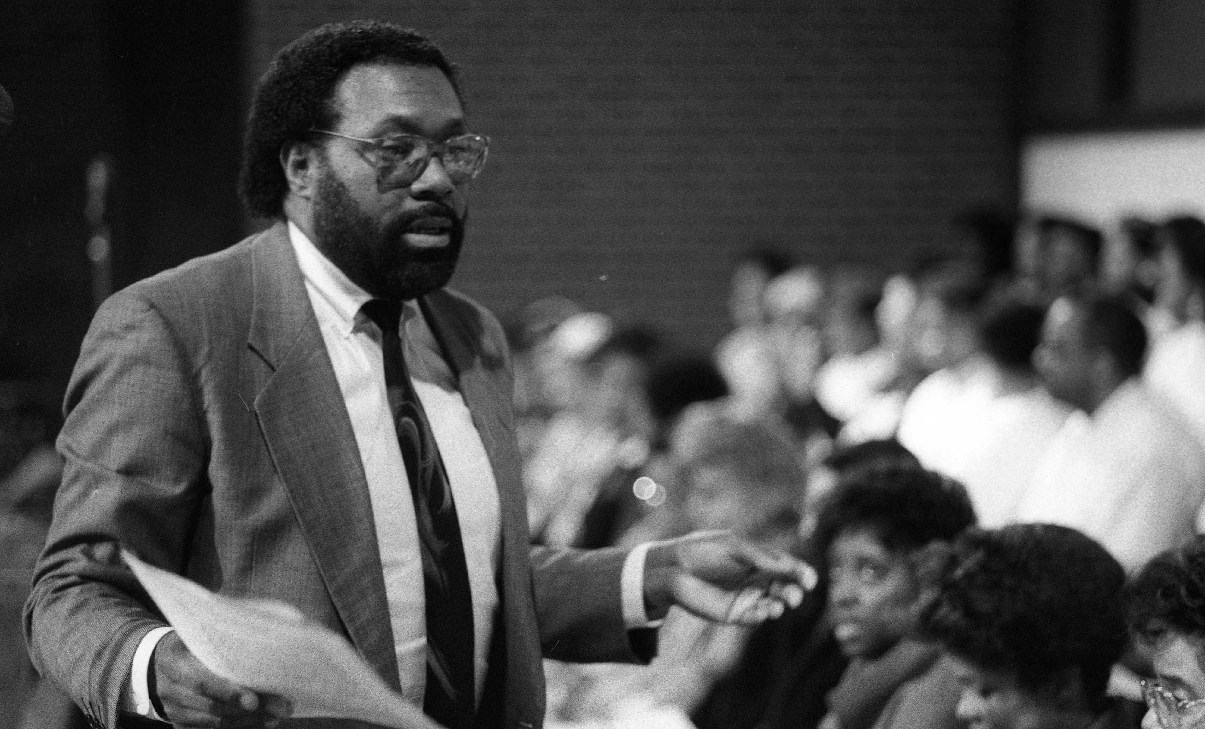Ron Steele Rehearsing with the Ministerial Alliance Choir at Second Baptist Church, April 1990 image
