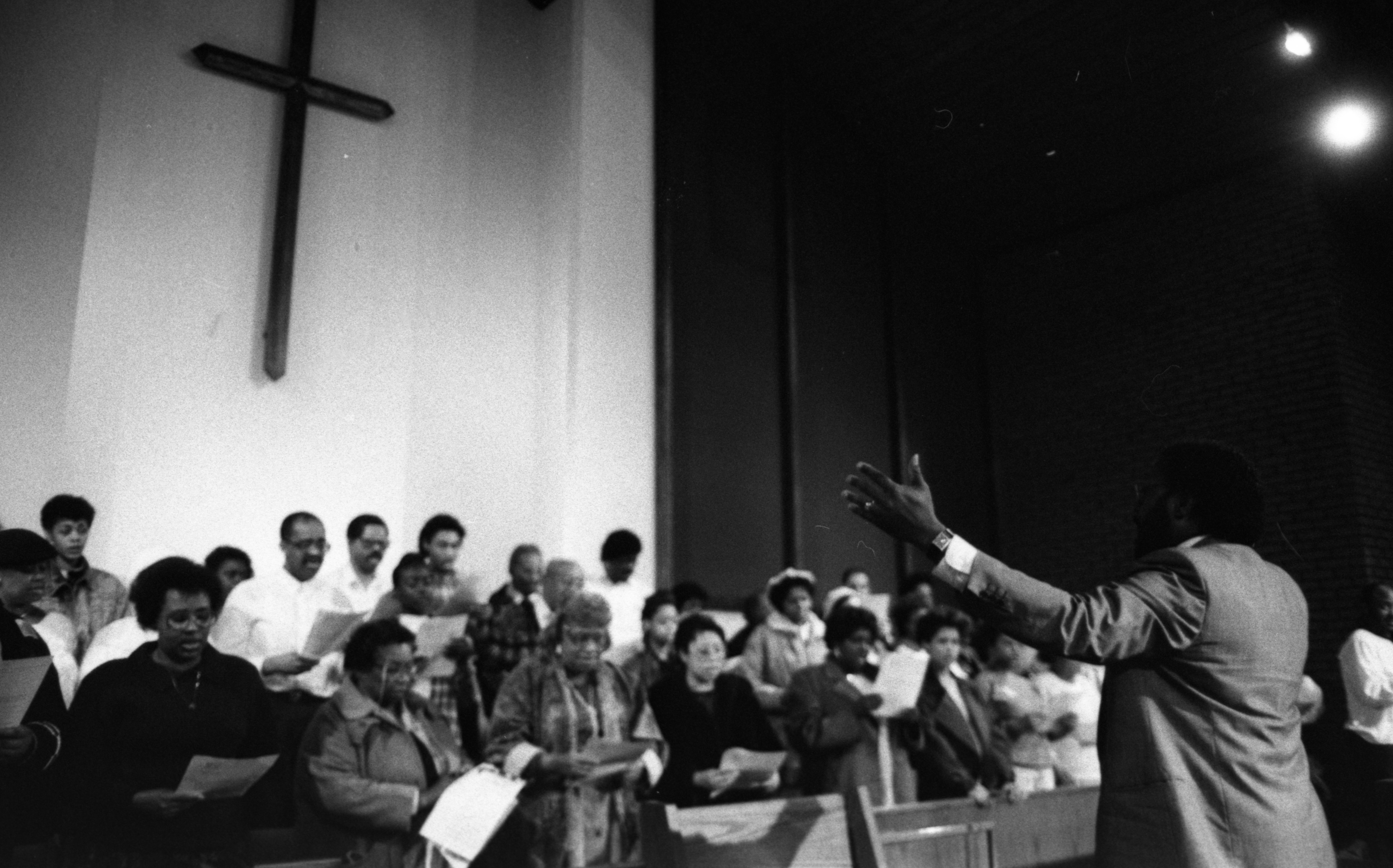 Ministerial Alliance Choir  Rehearsing at Second Baptist Church, April 1990 image