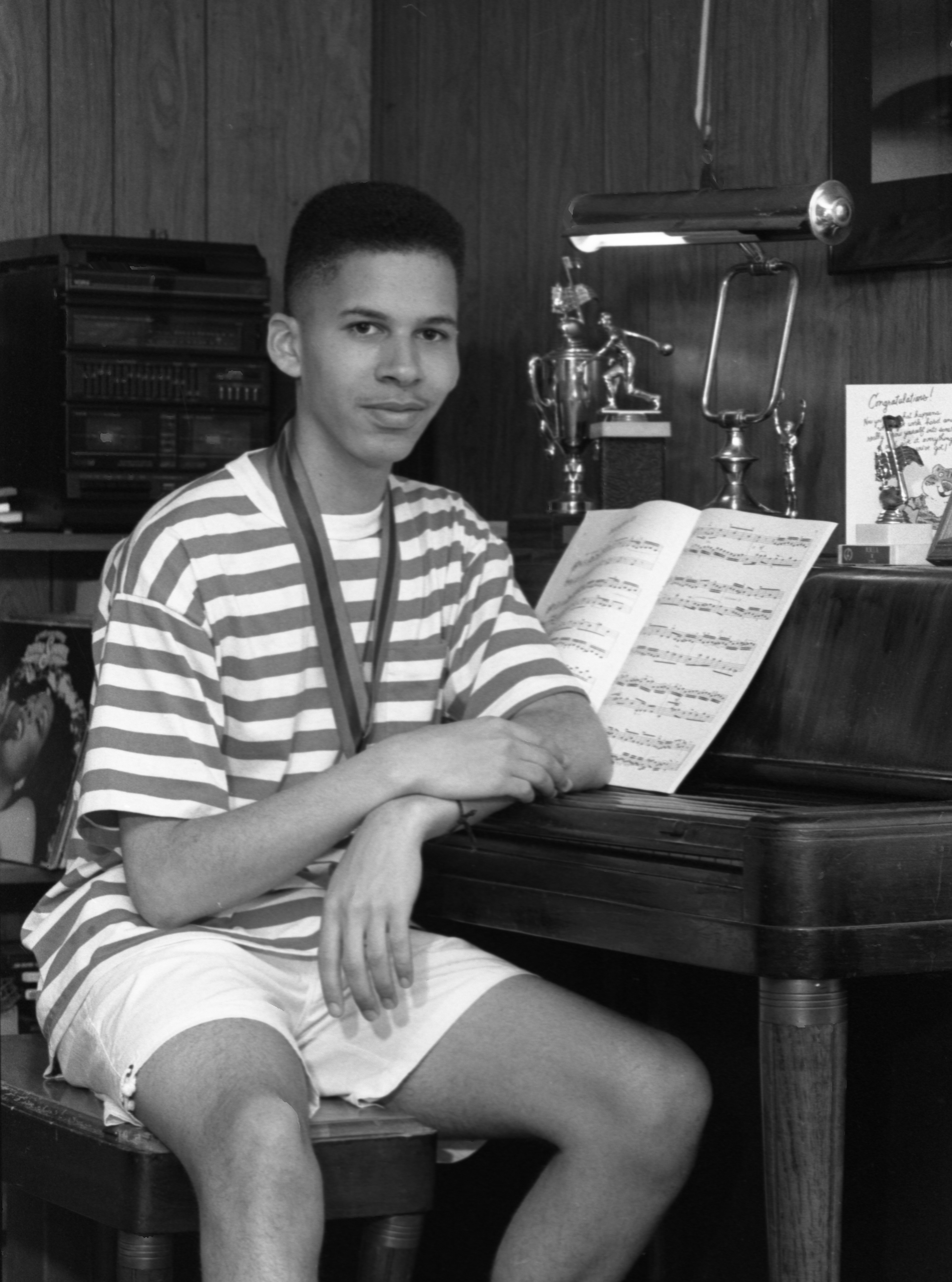 Andre Myers, Greenhills Student & Award Winning Composer, July 28, 1990 image