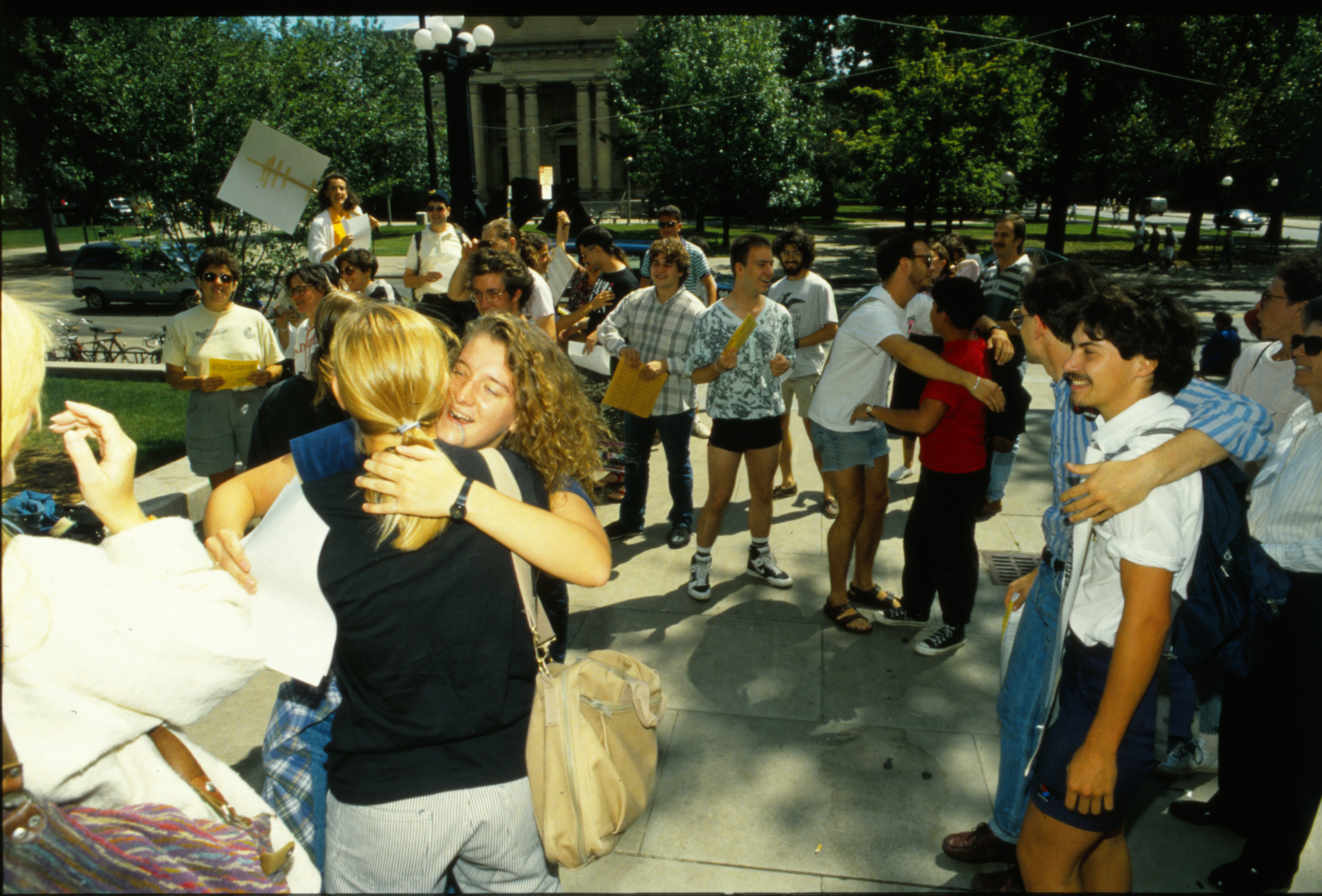 Demonstration sponsored by Act-Up, July 31, 1990 image