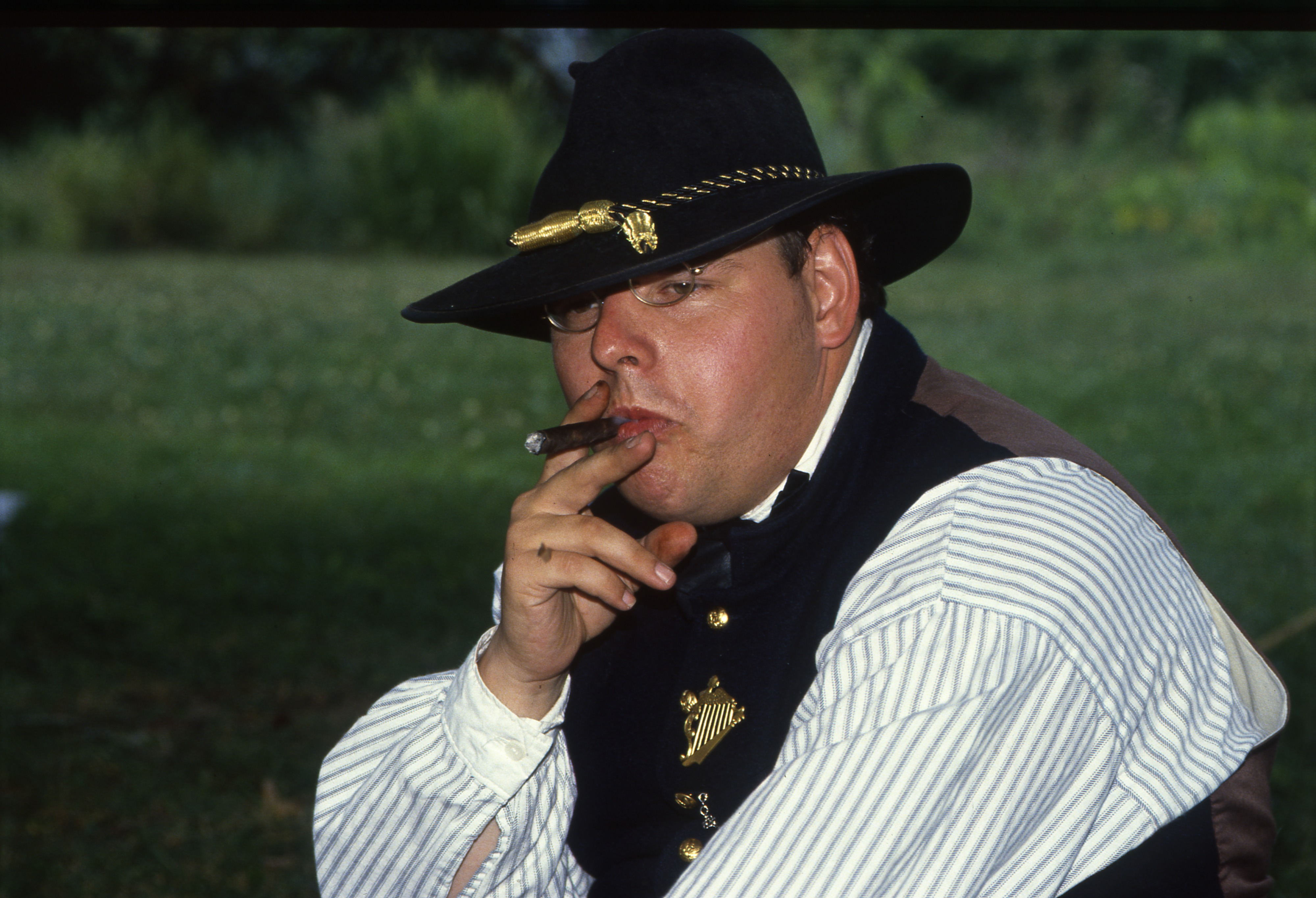 Tom King, Civil War Era Re-enactor At Cobblestone Farm, July 28, 1990 image