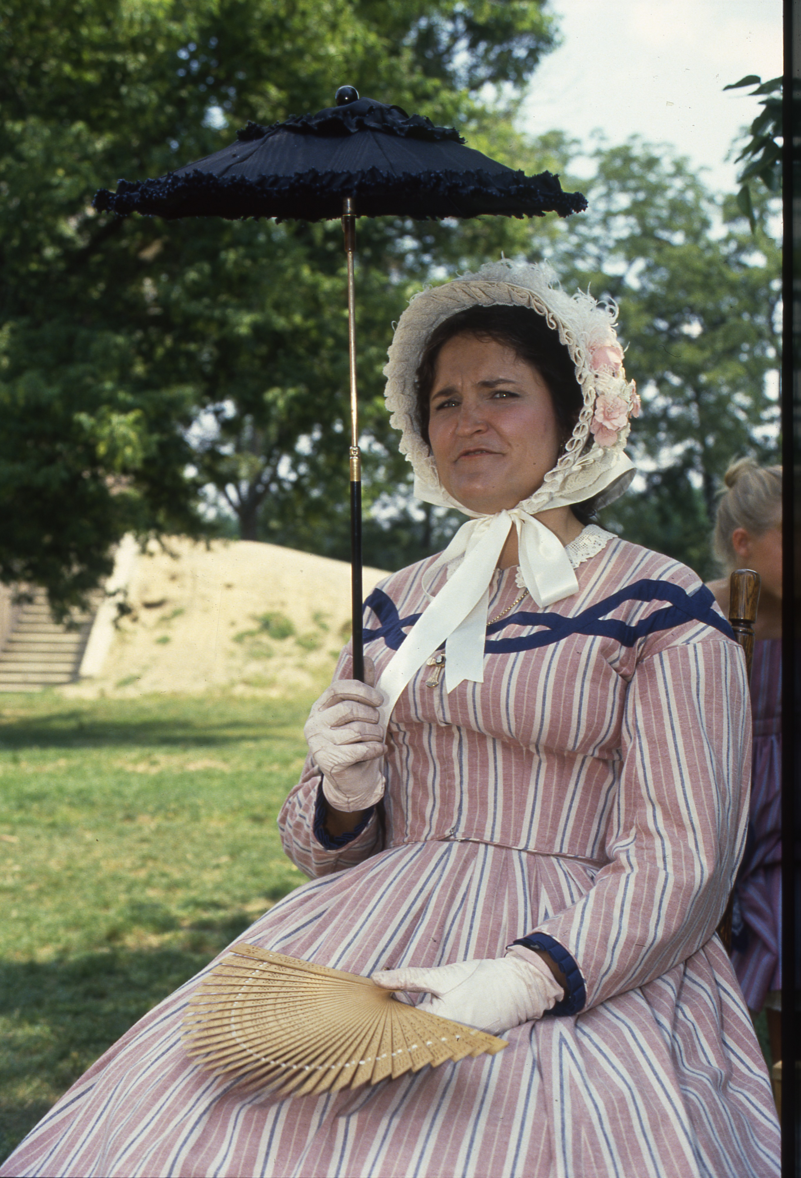 Civil War Era Re-enactor At Cobblestone Farm, July 28, 1990 image